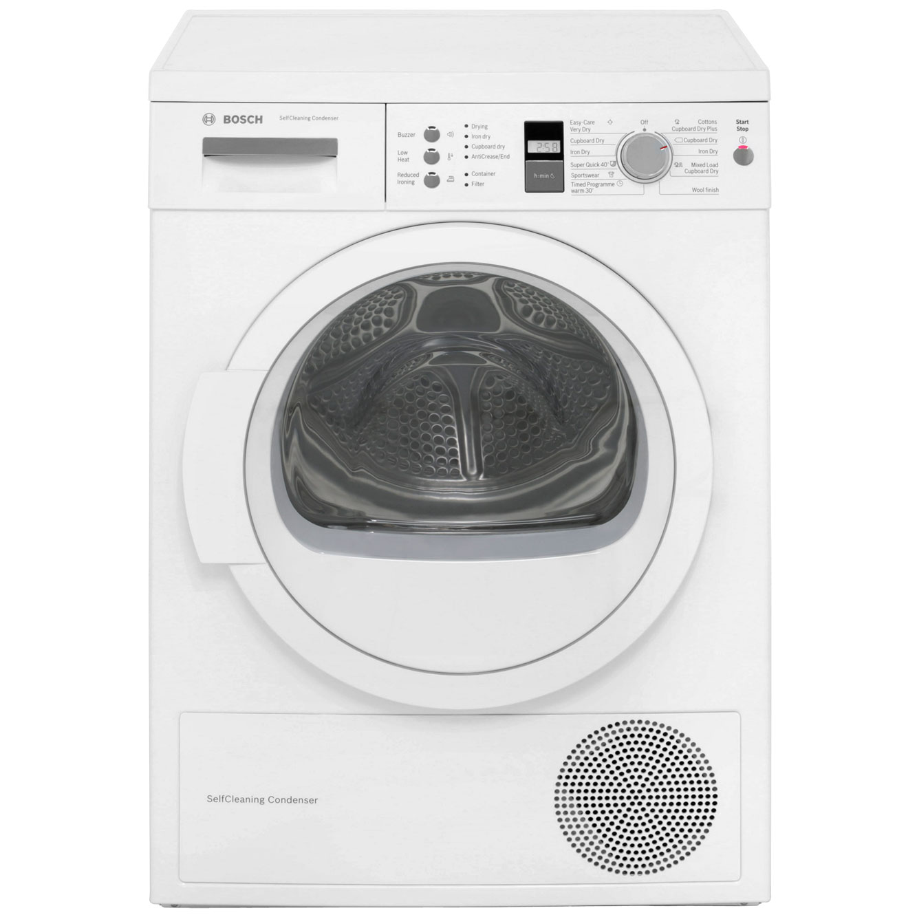 Bosch WTW863S1GB Heat Pump Tumble Dryer - White