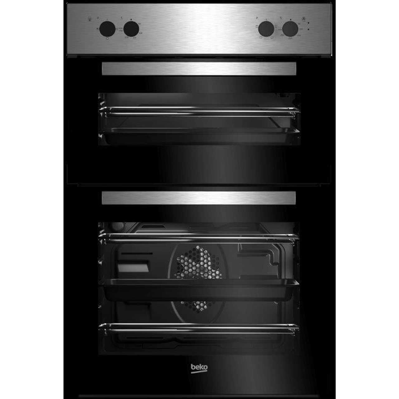 Beko Brdf21000x Built In 59cm A A Electric Double Oven