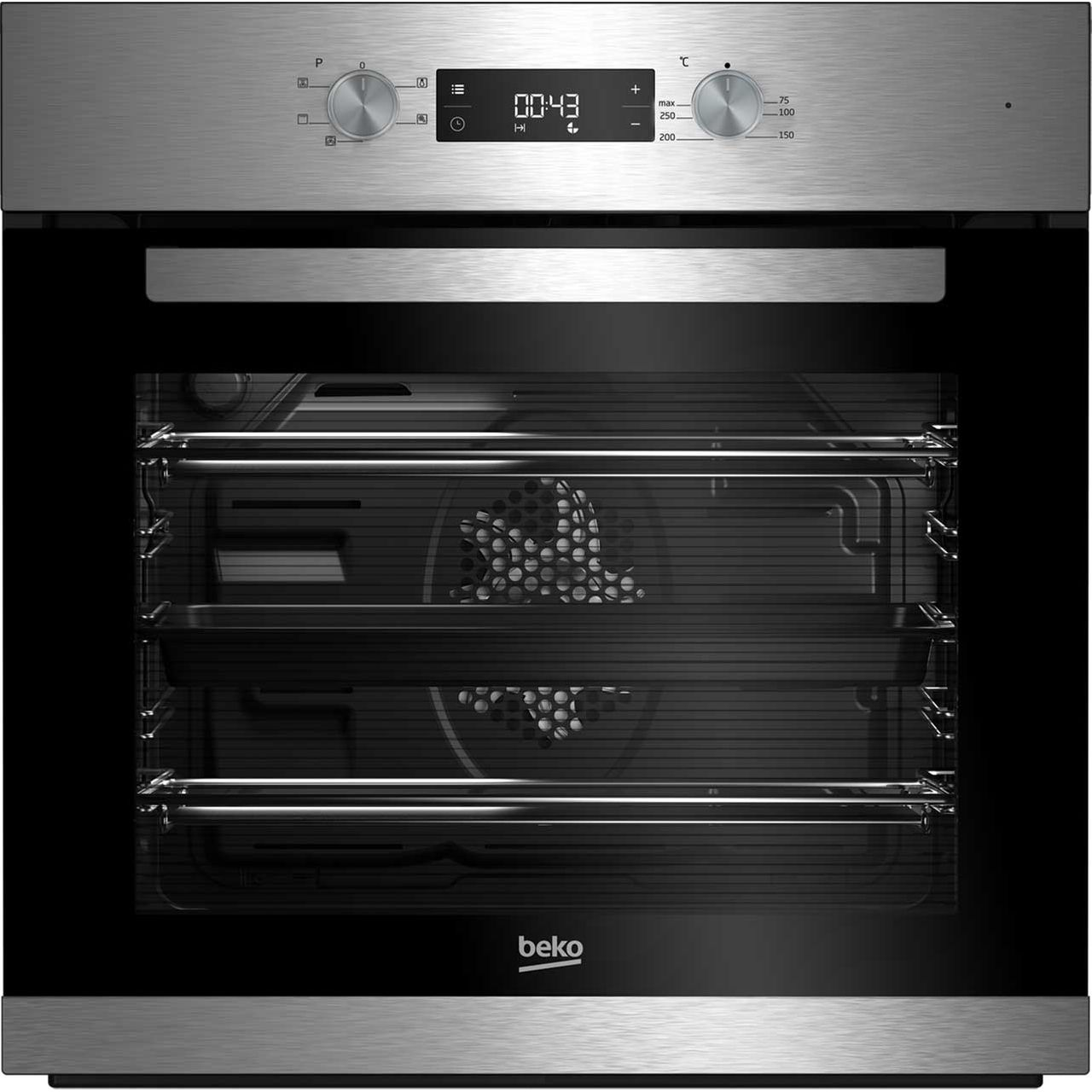 Beko EcoSmart BRIF22300X Built In Electric Single Oven - Stainless Steel