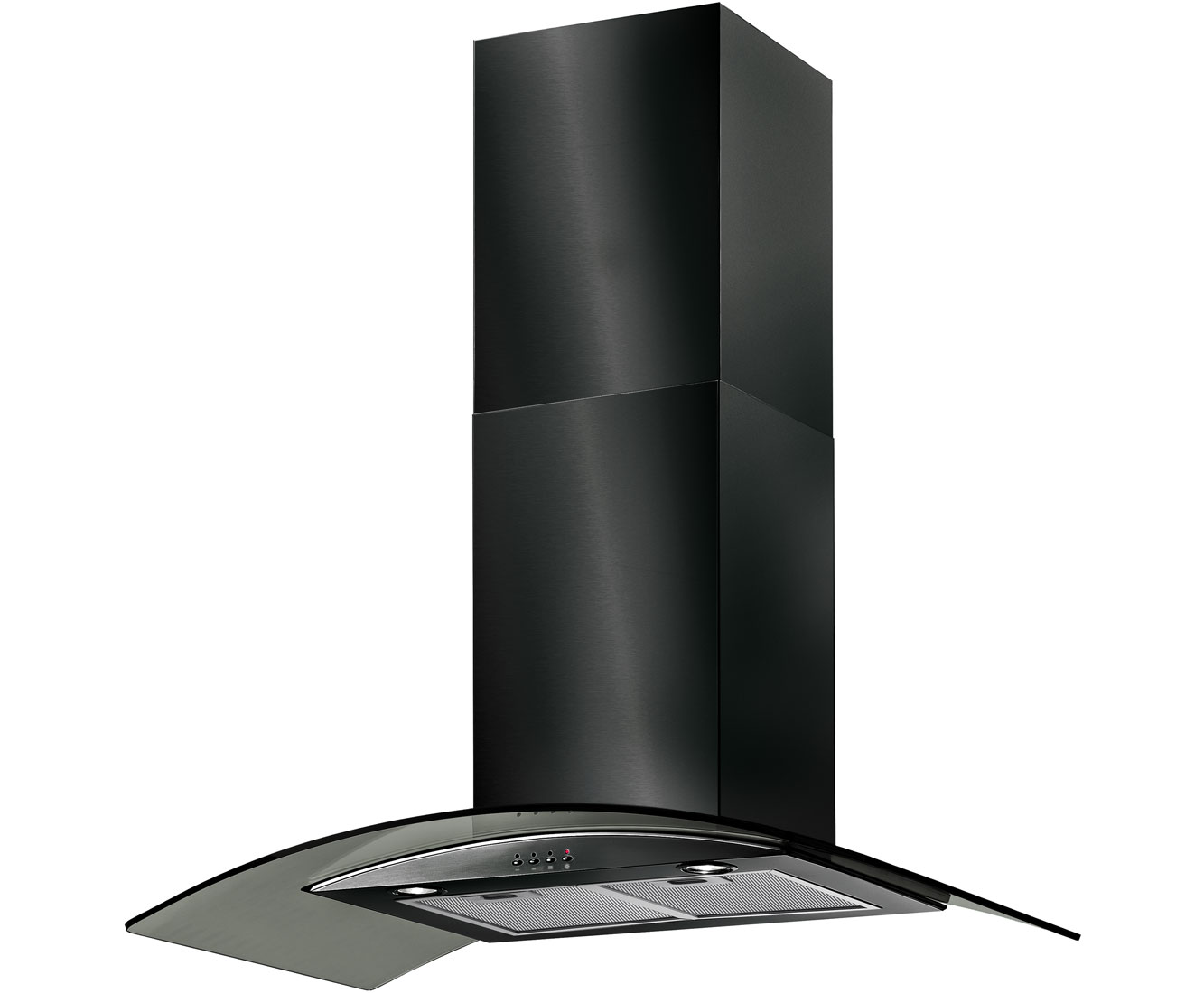 Baumatic BT9.3BGL Integrated Cooker Hood in Black Glass