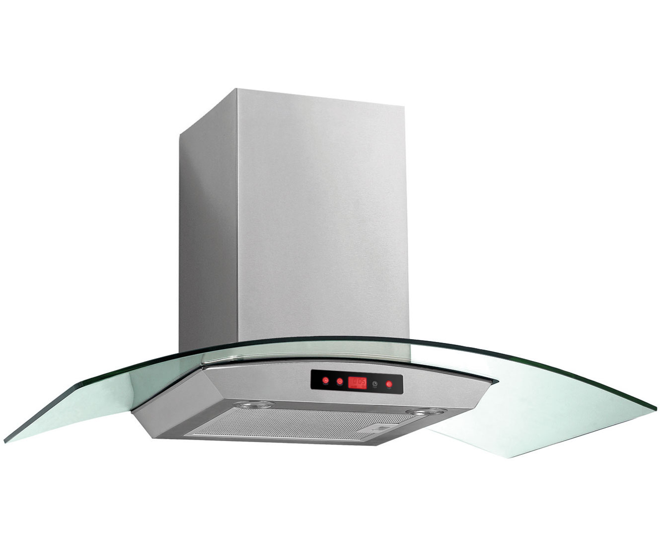 Baumatic BTC9750GL Integrated Cooker Hood in Stainless Steel  Glass
