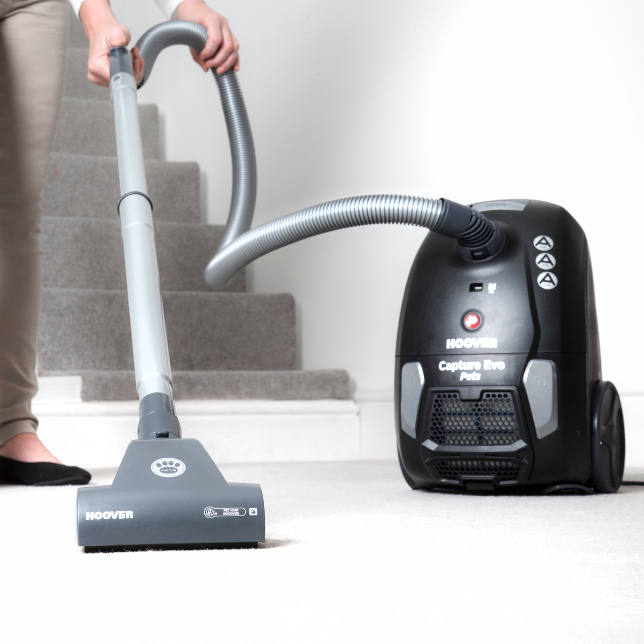 Details about Hoover BV71 Capture Pets Cylinder Vacuum Cleaner Bagged Pet  Hair Removal 1 Year