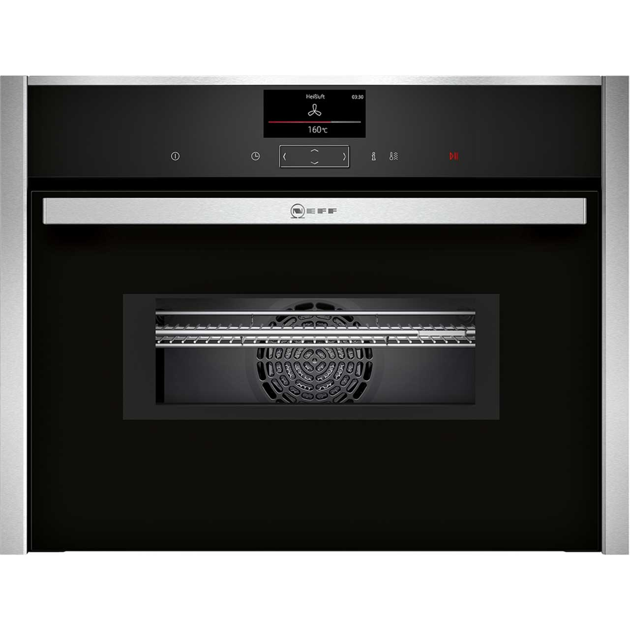 Neff Premium Collection 2 C27MS22N0B Integrated Microwave Oven in Stainless Steel