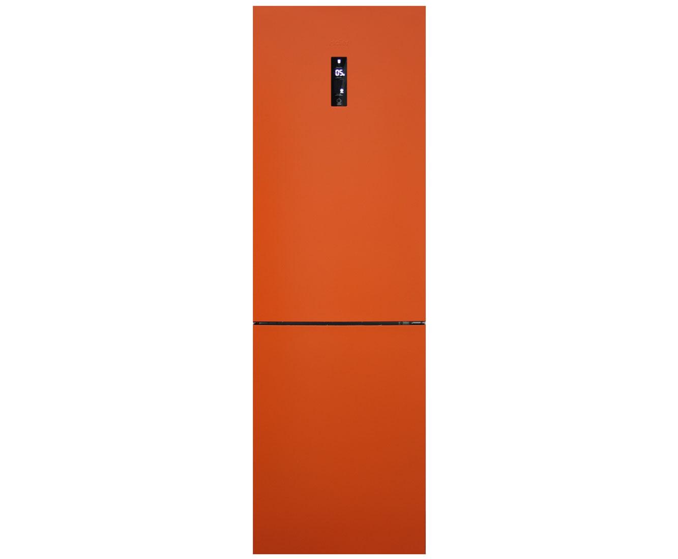 Haier C2FE636COJ Free Standing Fridge Freezer Frost Free in Orange