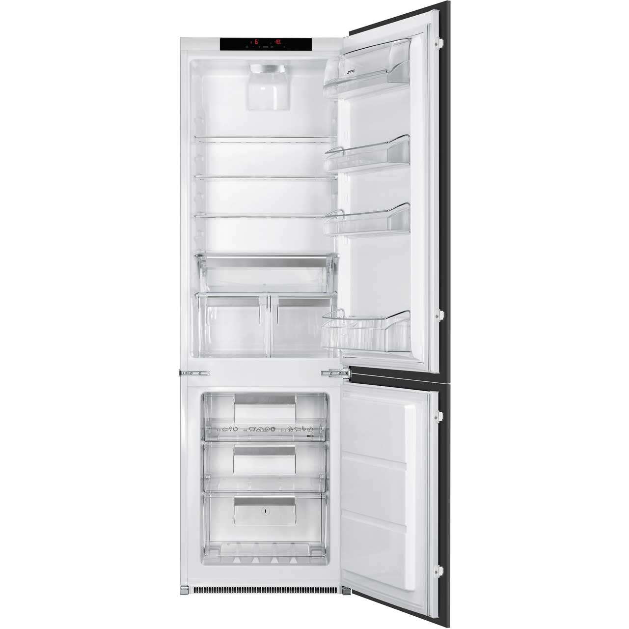 Smeg C7280NLD2P Integrated Fridge Freezer Frost Free in White