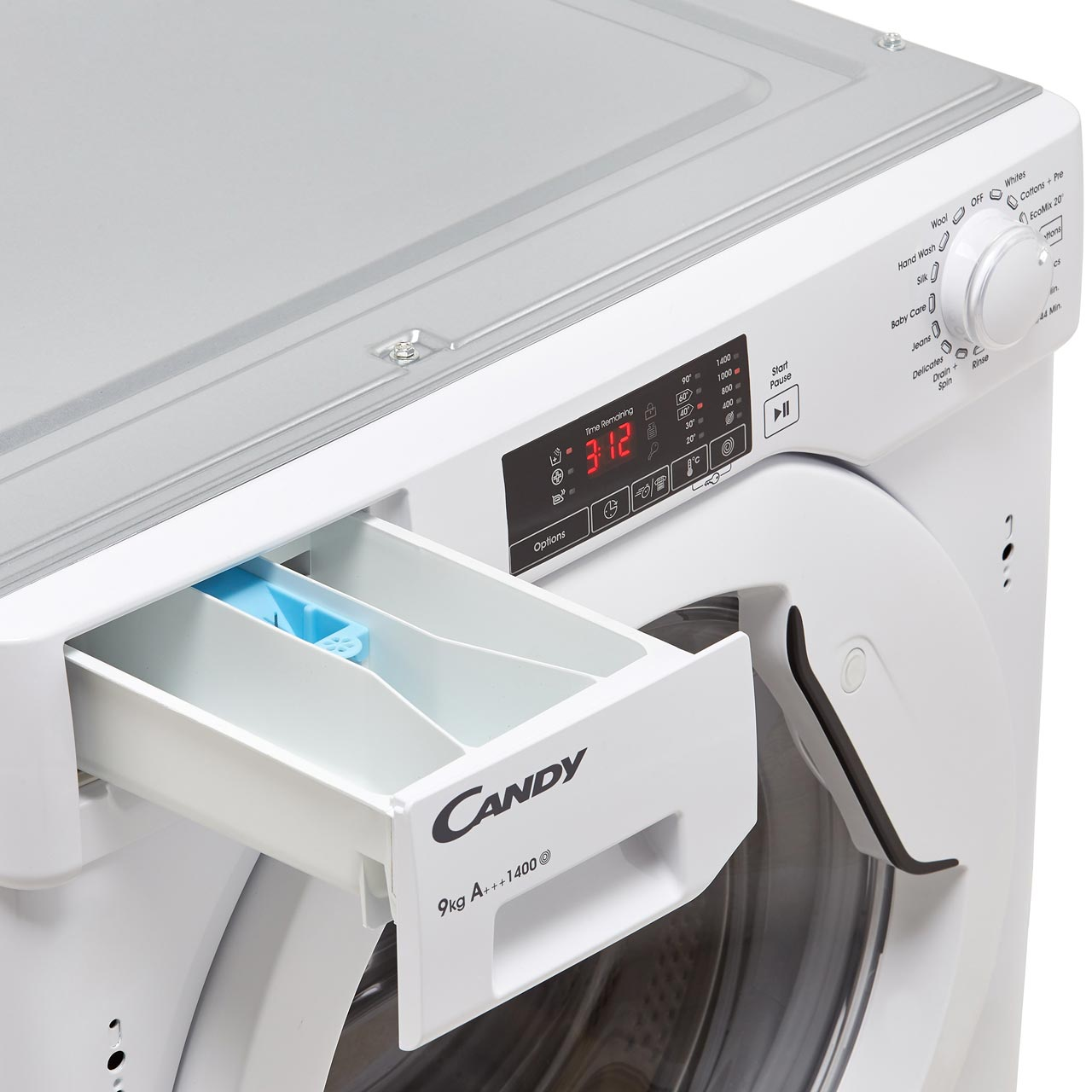 Candy CBWM914D Integrated 9Kg Washing Machine with 1400 rpm - A+++ Rated