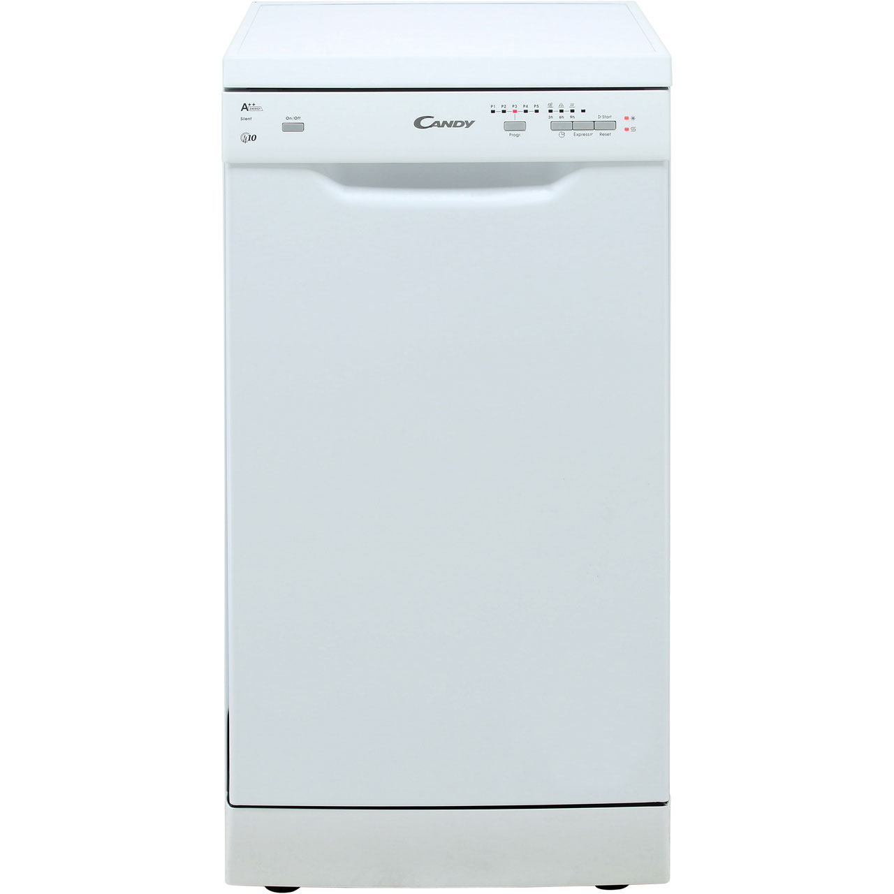 Candy Slimline Dishwasher - White - A++ Rated