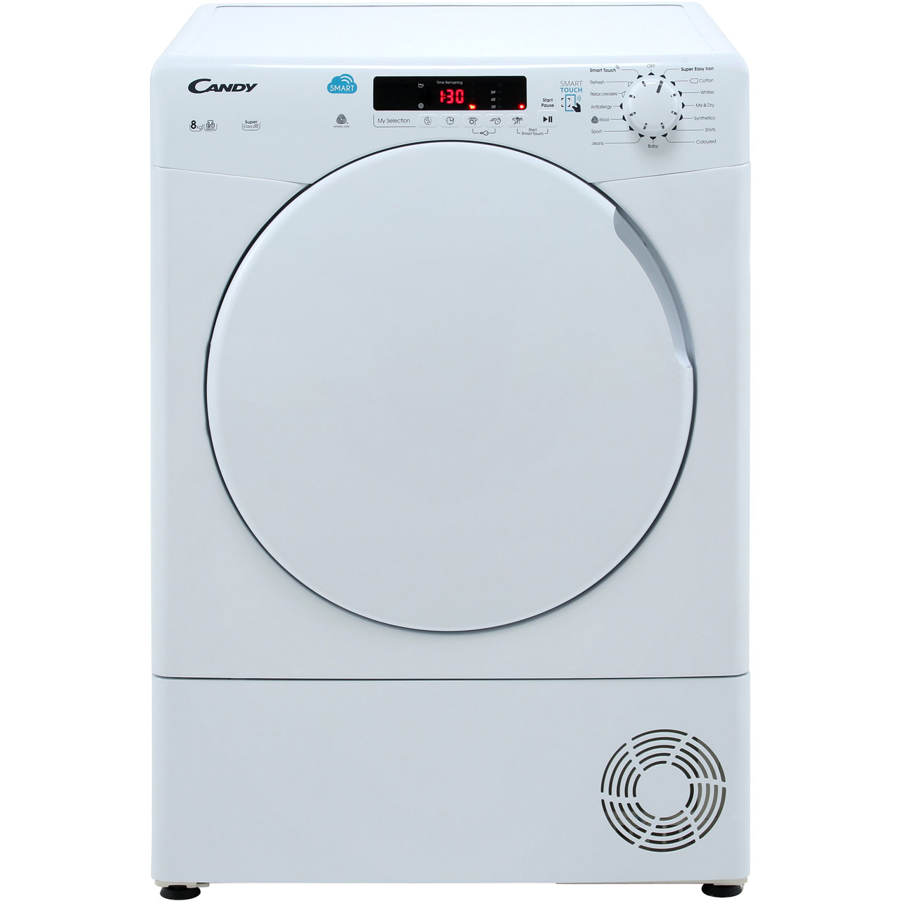 Candy Smart 8Kg Condenser Tumble Dryer - White - B Rated
