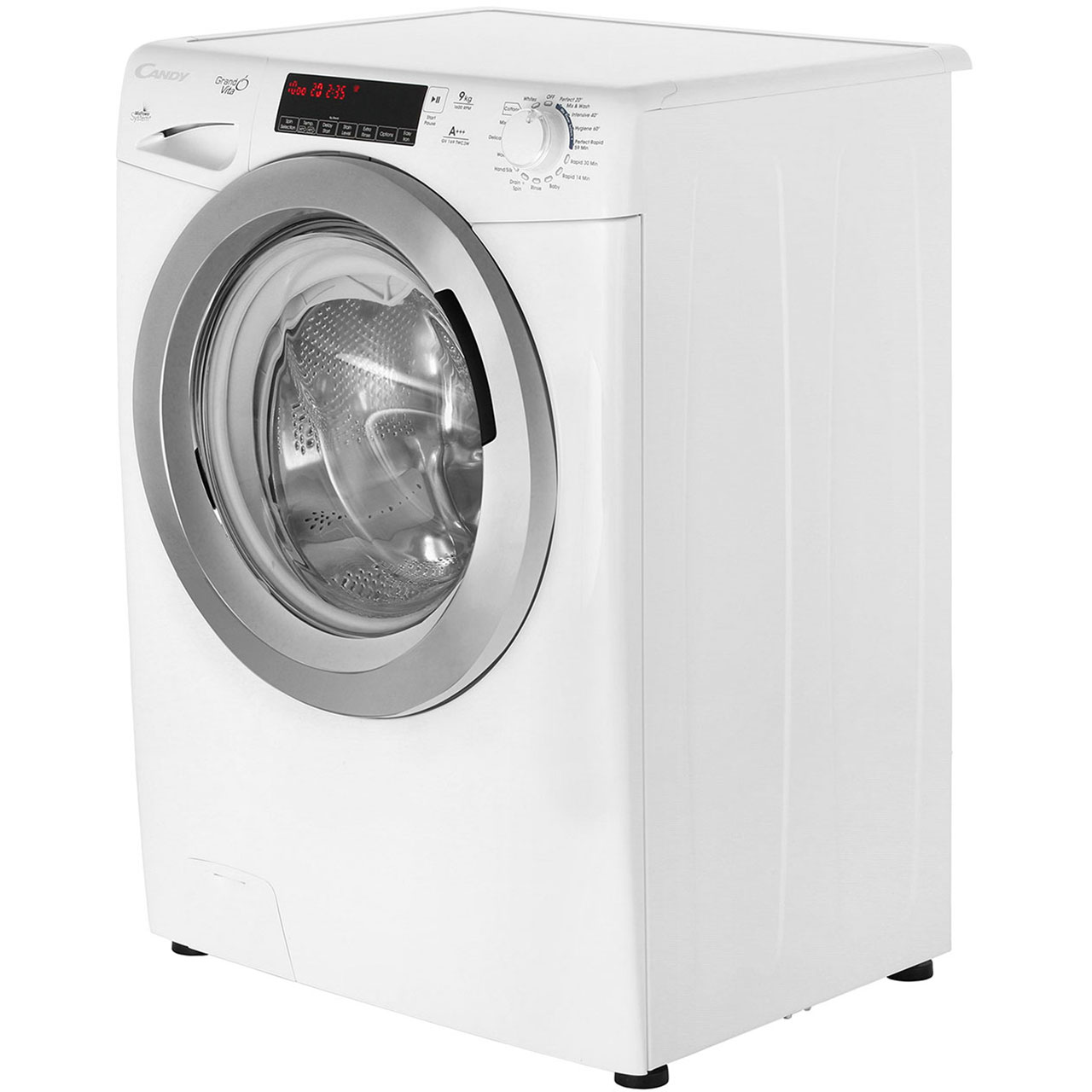 Standard Washing Machine Width Candy Grando Vita Gv169twc3w 9kg Washing Machine With 1600 Rpm