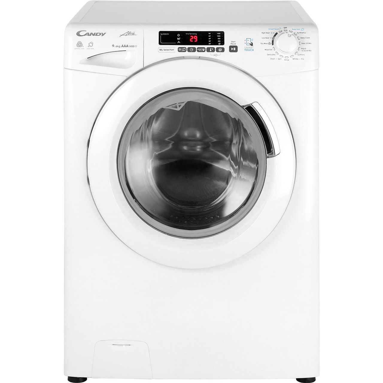 Gvsw496dwh Candy Washer Dryer White Aocom