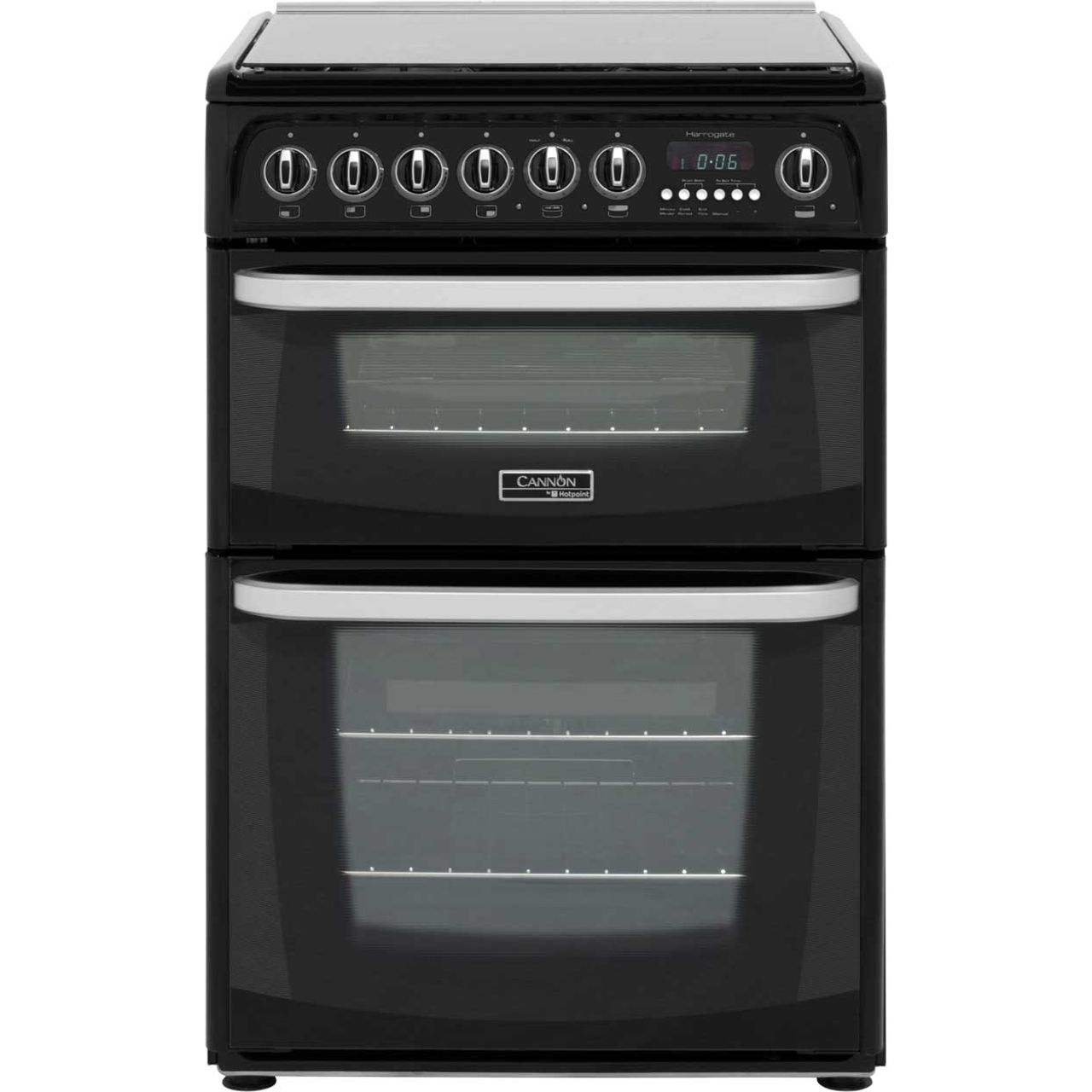 Cannon by Hotpoint CH60DHKFS Free Standing Cooker in Black