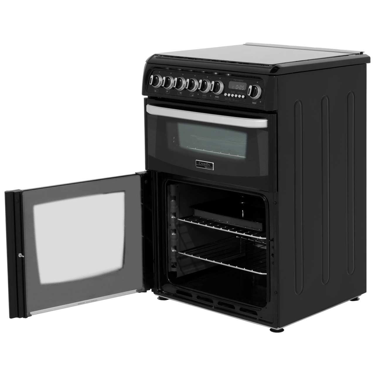 Available From Your Harrogate: Cannon By Hotpoint Harrogate CH60DHKFS Dual Fuel Cooker