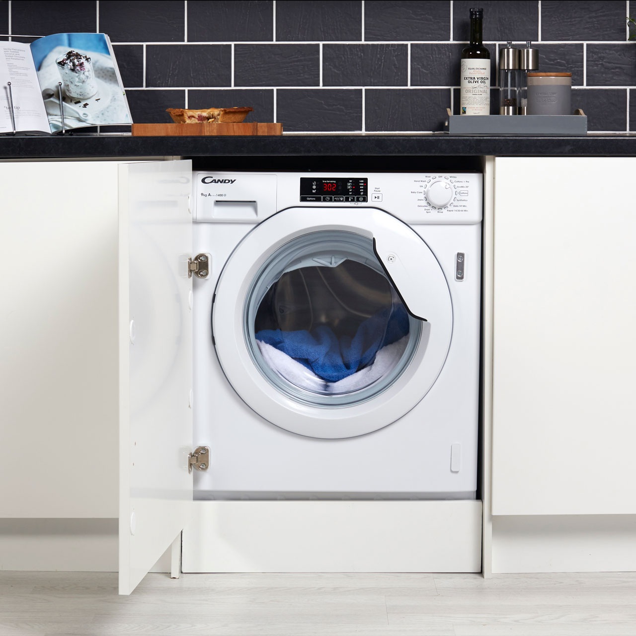 Candy Cbwm914d A    Rated Integrated 9kg 1400 Rpm Washing