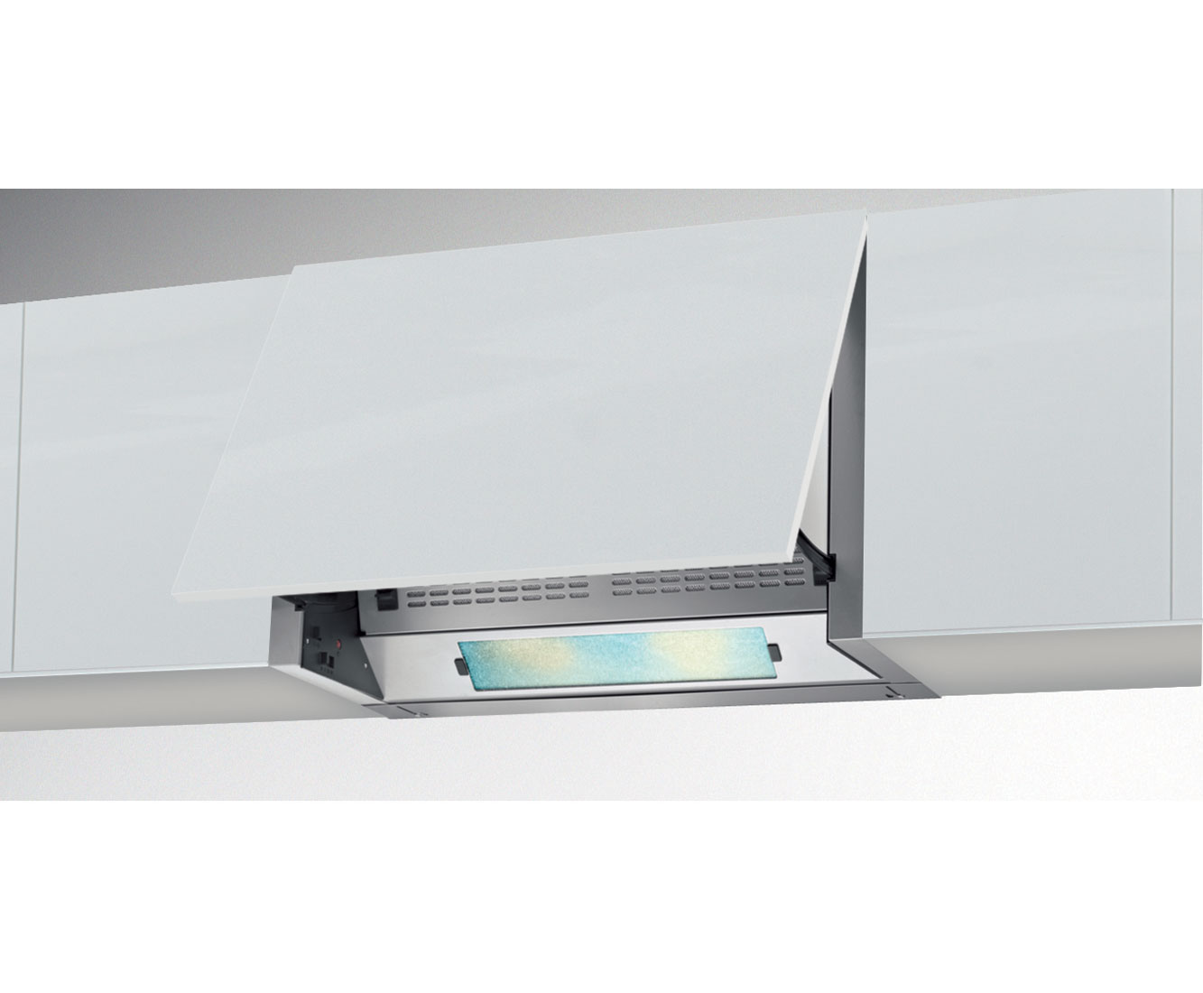 Beko CEB6020S Integrated Cooker Hood in Silver