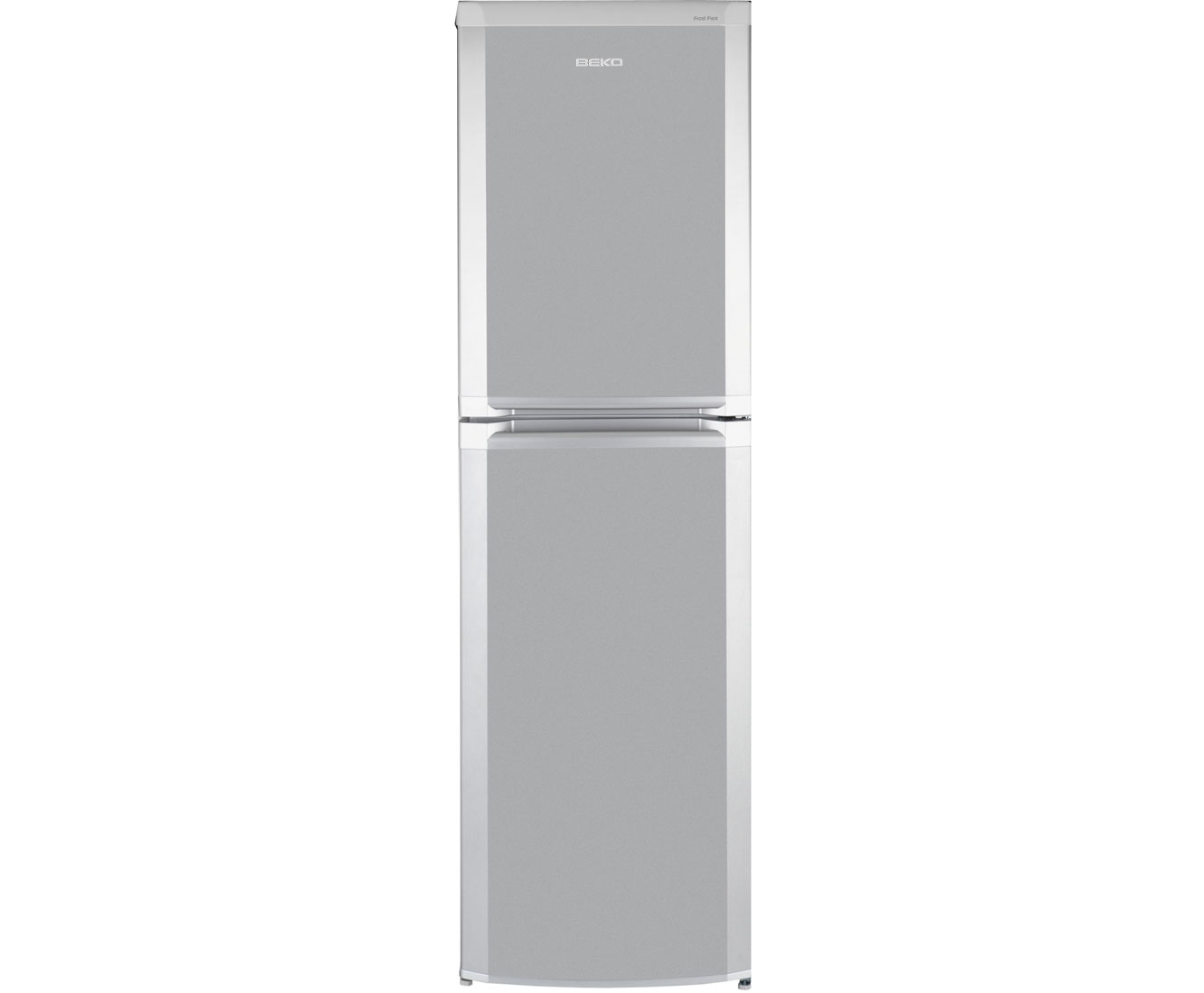Silver slimline fridge freezer