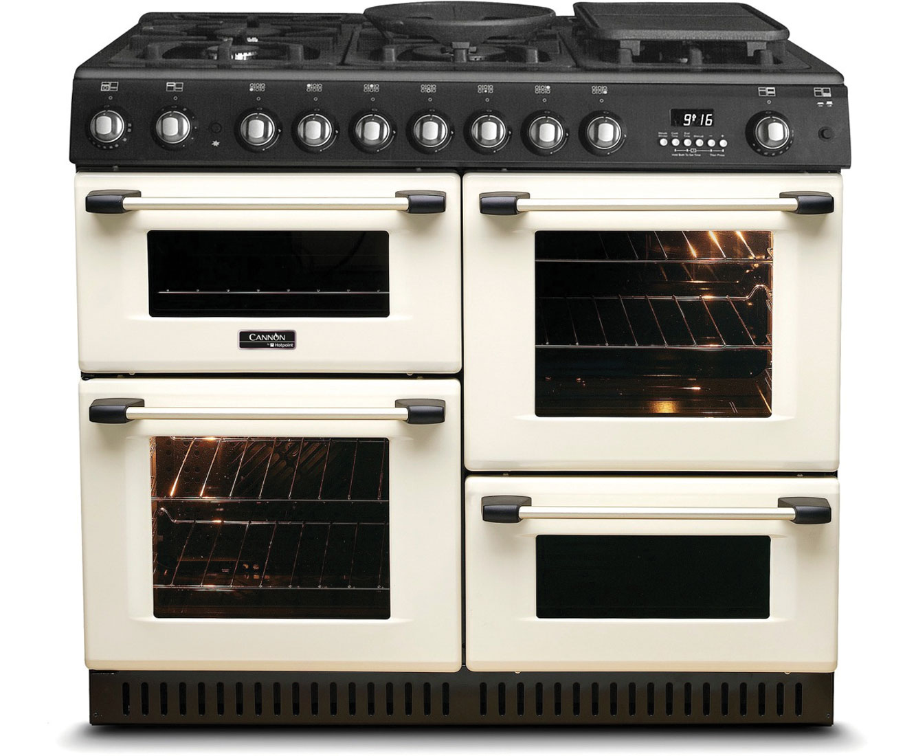 Cannon by Hotpoint CH10755GFS Free Standing Range Cooker in Cream