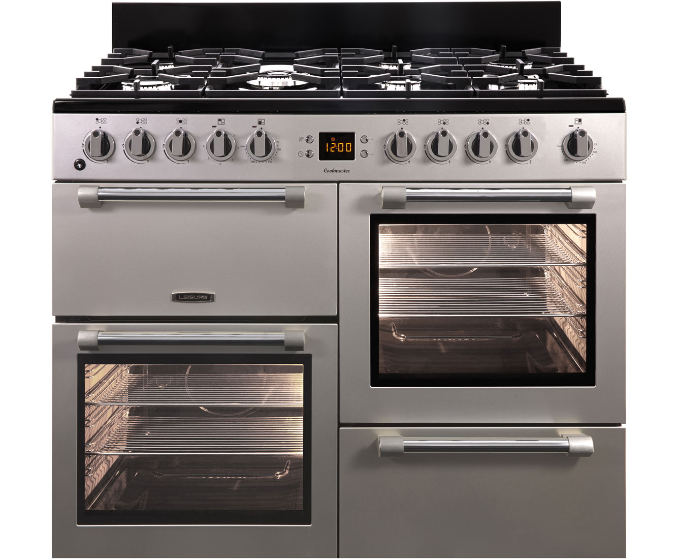 Leisure Cookmaster 100 CK100F232S 100cm Dual Fuel Range Cooker - Silver