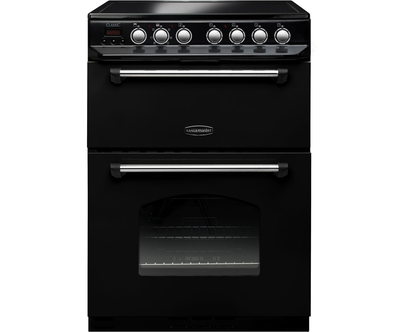 Rangemaster Classic 60 CLAS60ECBLC Free Standing Cooker in Black  Chrome