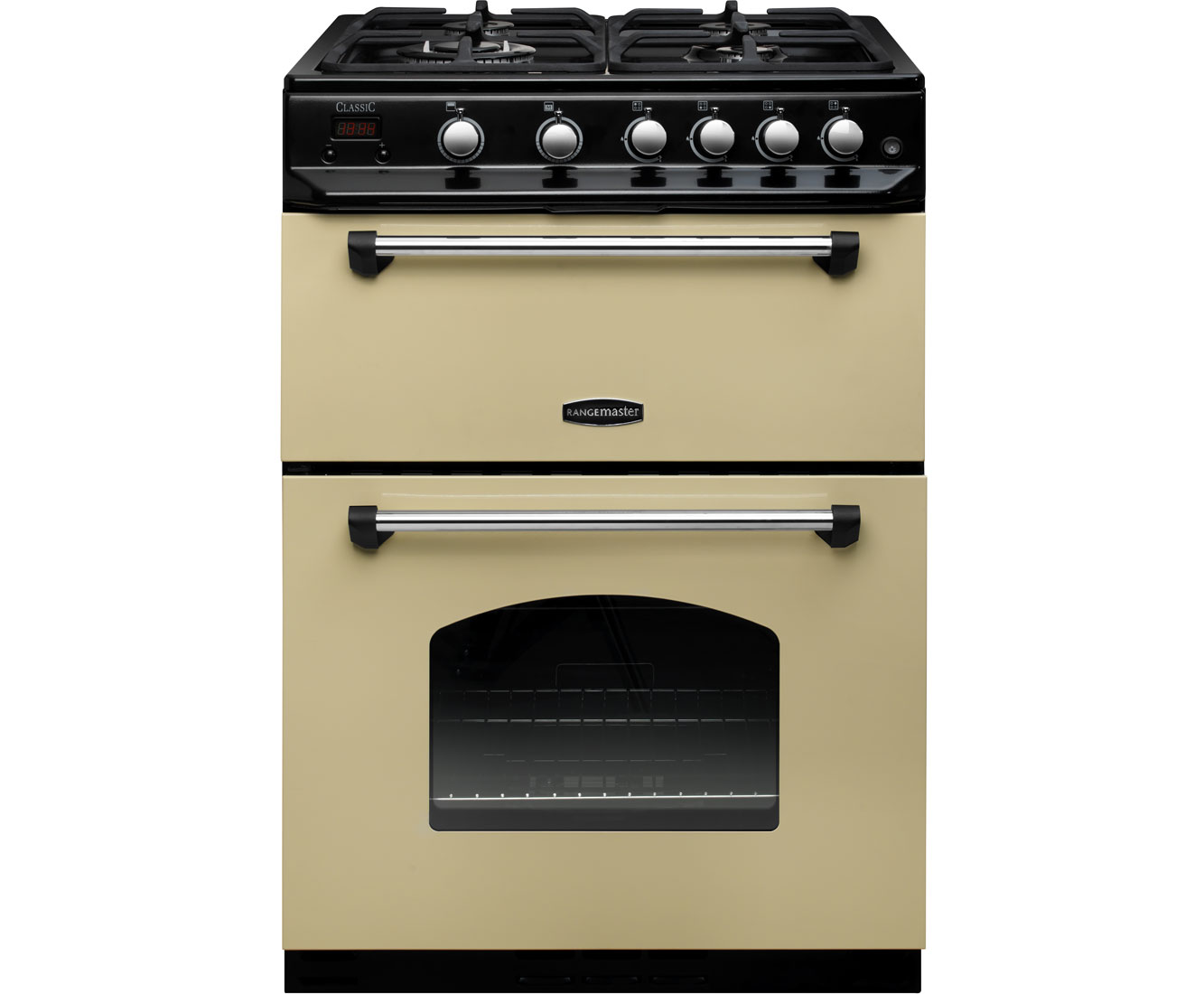 Rangemaster Classic 60 CLAS60NGFCRC Free Standing Cooker in Cream  Chrome