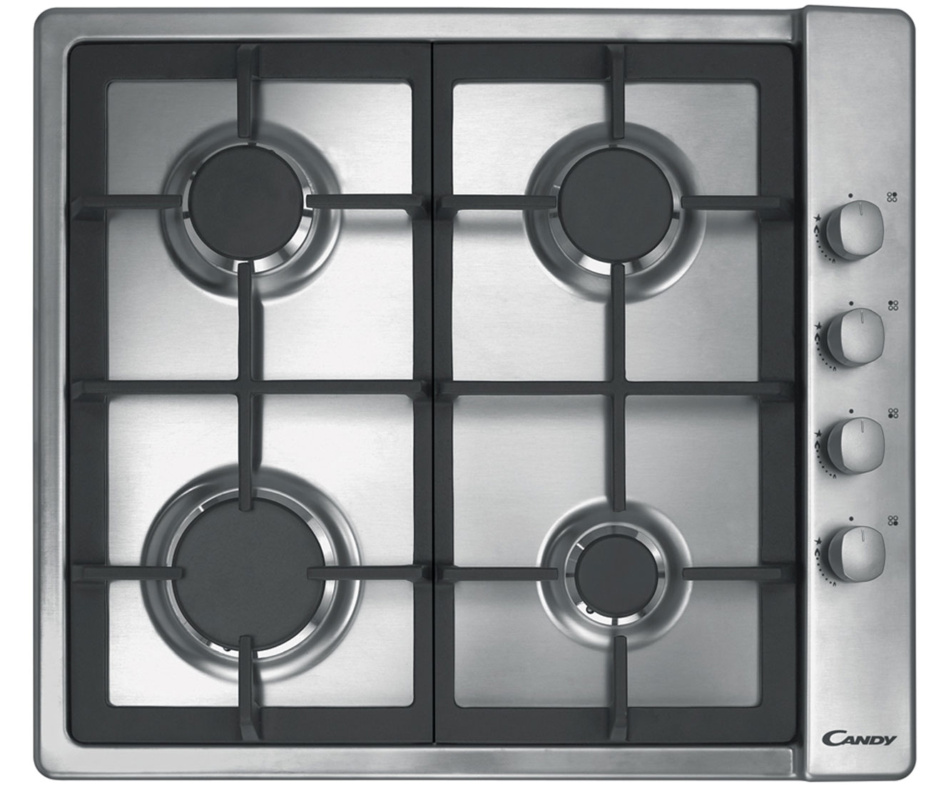 Candy Plan CLG64SGX Integrated Gas Hob in Stainless Steel