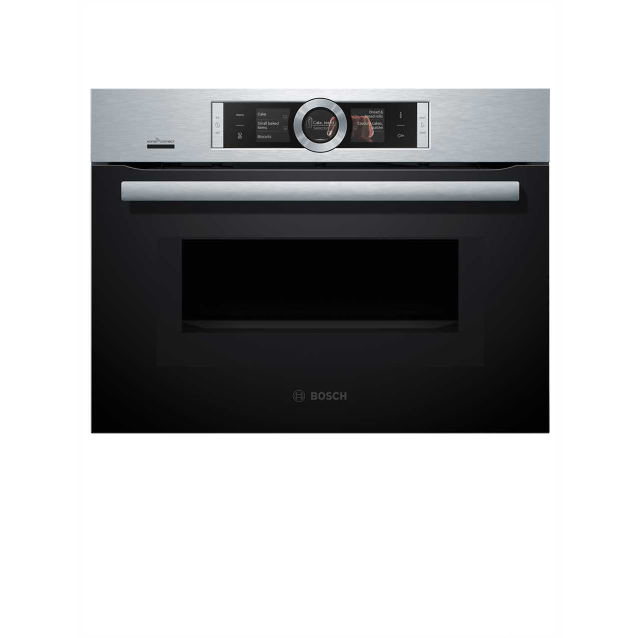 Bosch Serie 8 Cmg676bs6b Wifi Connected Built In Compact Electric Single Oven With Microwave Function