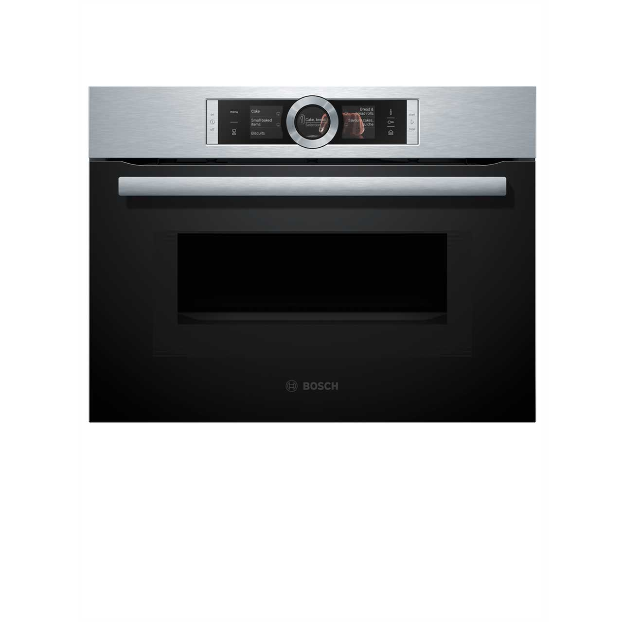 Bosch Serie 8 CNG6764S1B Integrated Microwave Oven in Brushed Steel