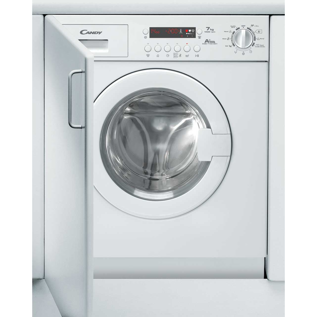 Candy CWB714DN1 Integrated Washing Machine in White
