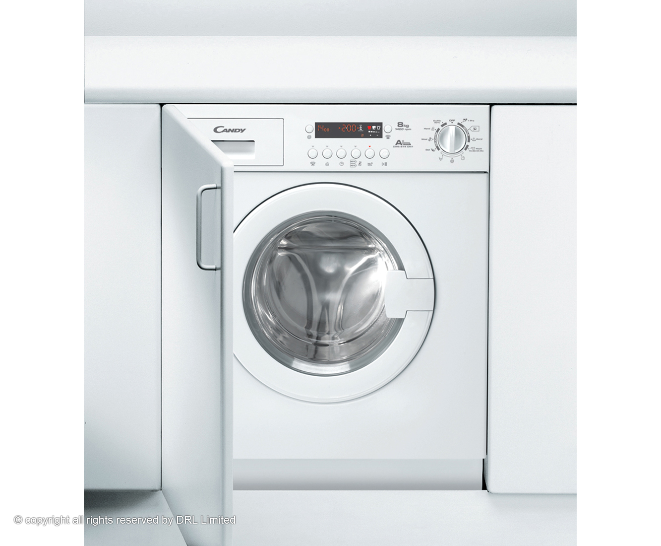 Candy CWB814DN1 Integrated Washing Machine in White