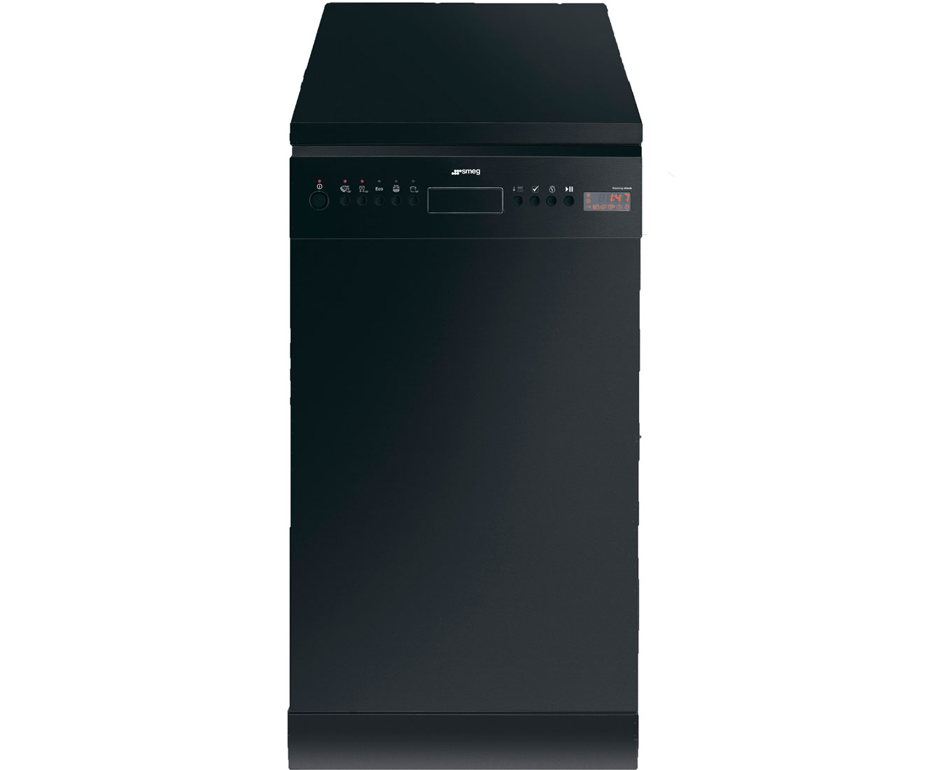 Smeg D4B1 Free Standing Slimline Dishwasher in Black