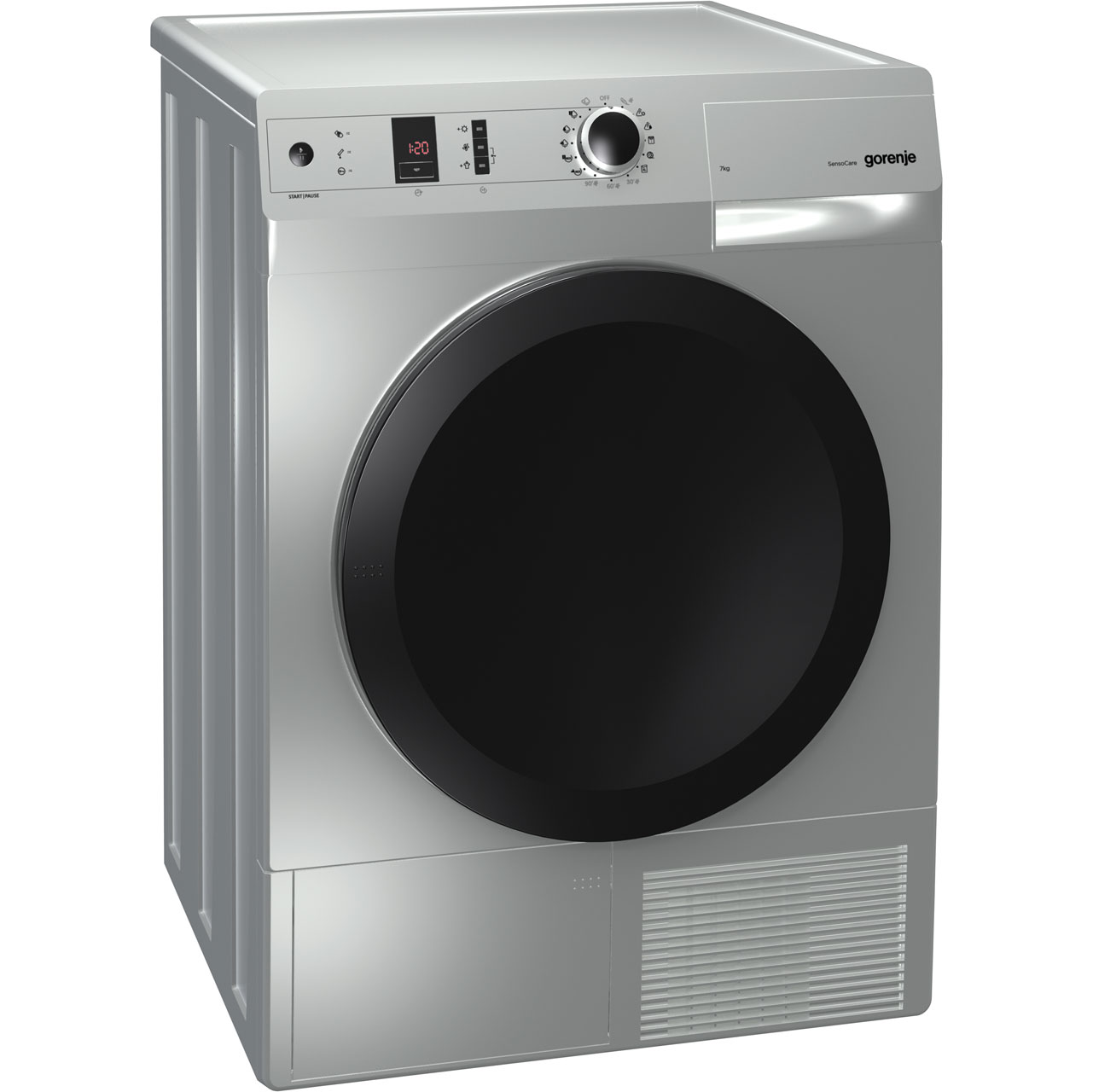 Gorenje Colour Collection D8565NA Free Standing Condenser Tumble Dryer in Aluminium