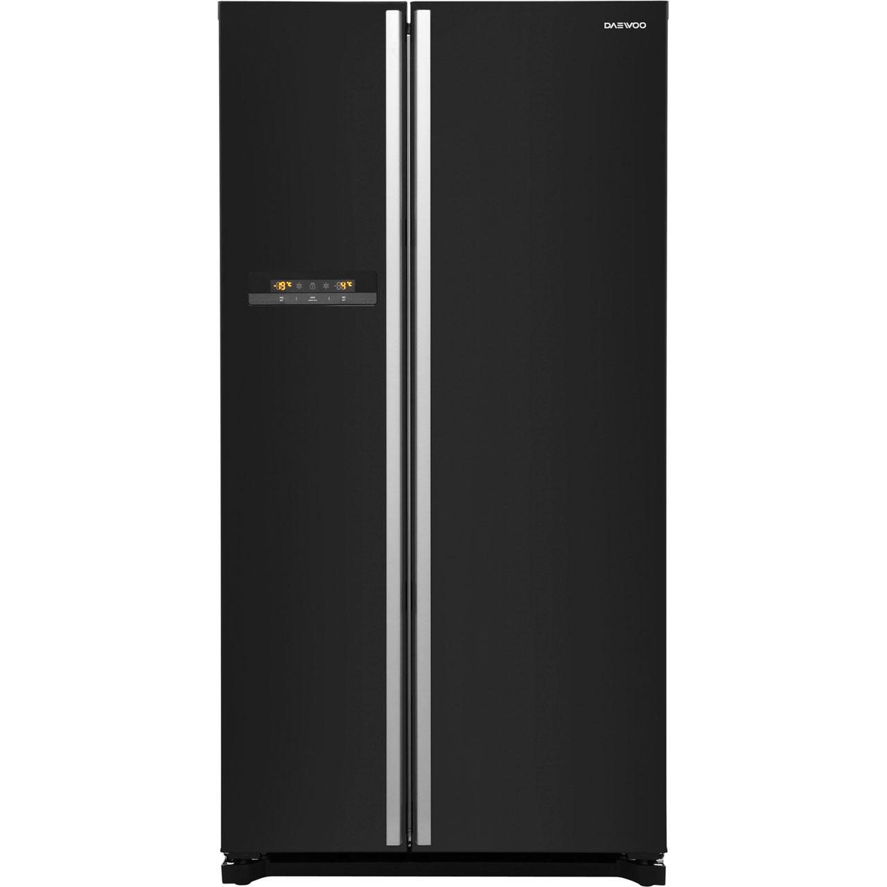 Daewoo FRAX22B3B Free Standing American Fridge Freezer in Black