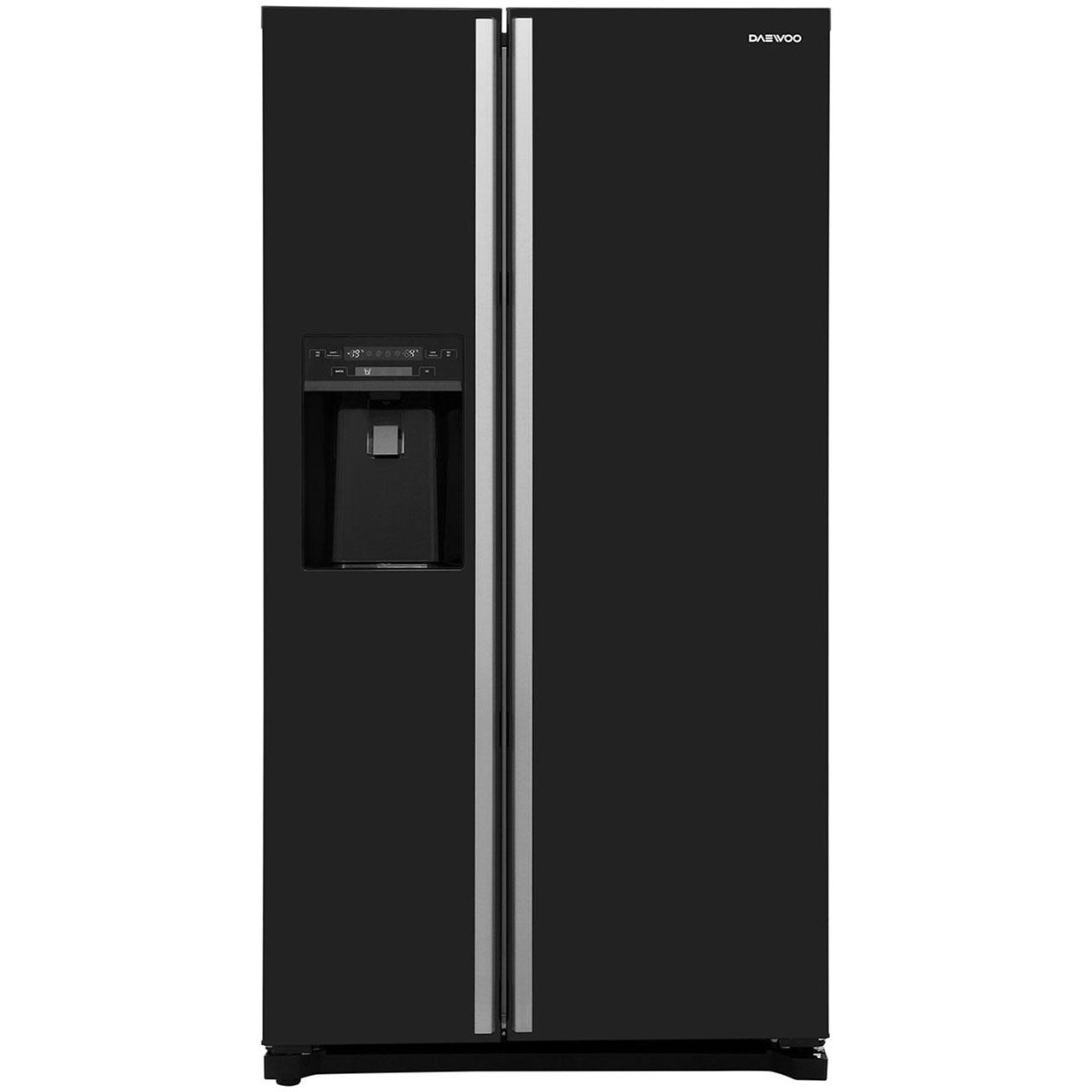 Daewoo FRAX22D3B Free Standing American Fridge Freezer in Black