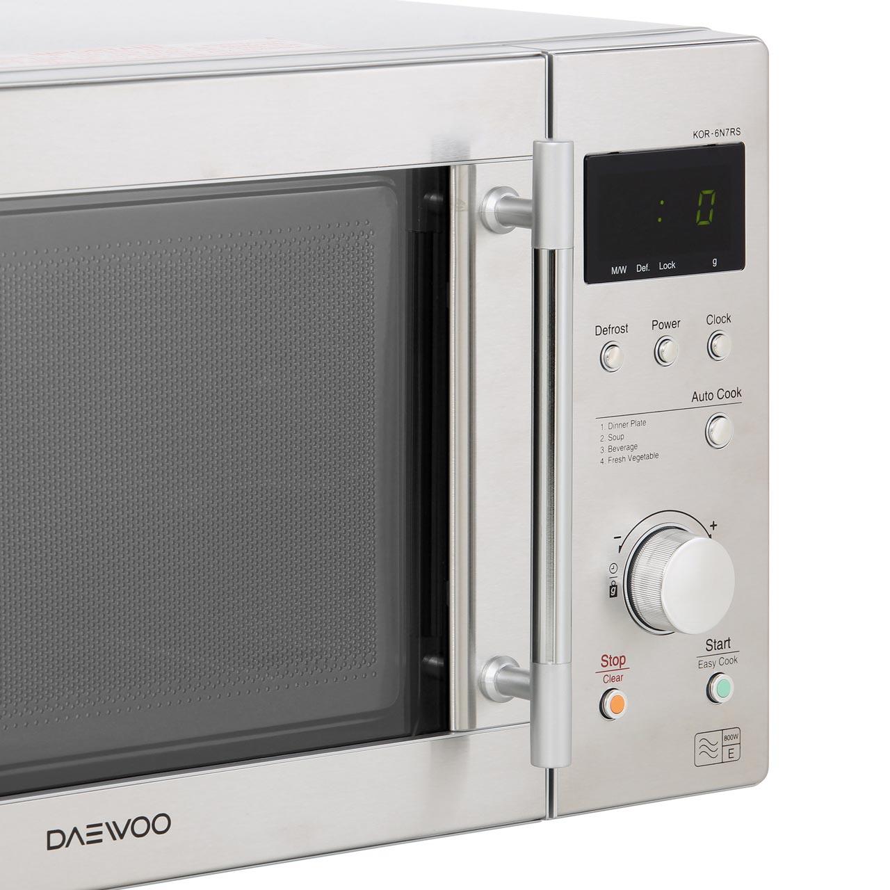 Daewoo KOR6N7RS 800 Watt Microwave Free Standing Silver New from AO