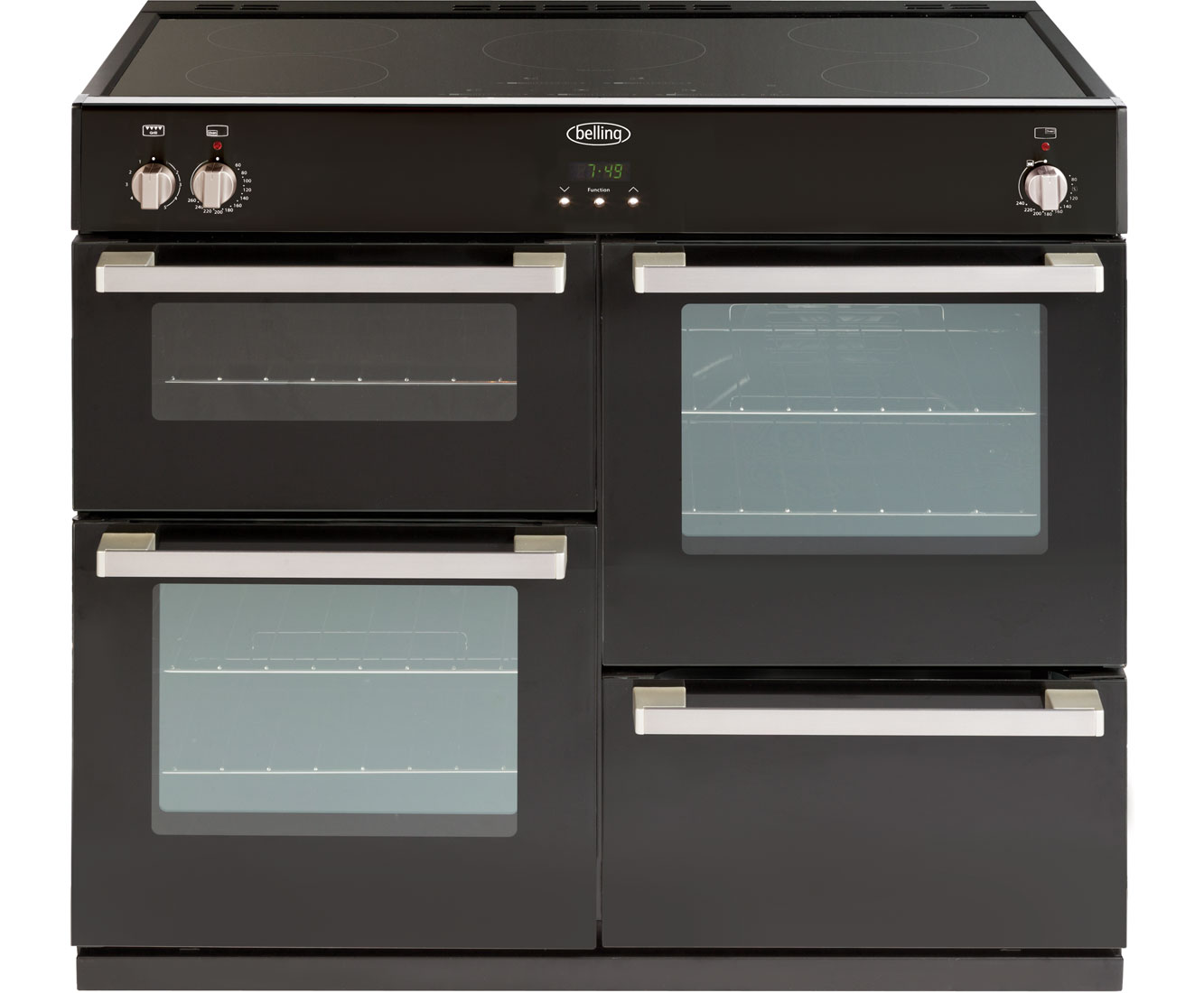 Belling DB4100Ei 100cm Electric Range Cooker with Induction Hob - Black