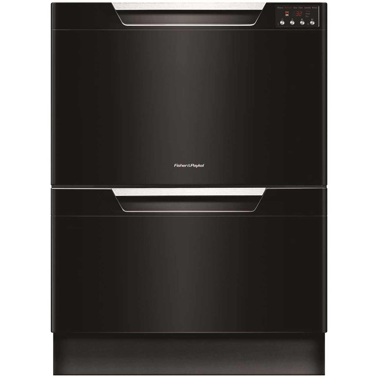 Fisher & Paykel Double DishDrawer? DD60DAHB8 Integrated Dishwasher in Black
