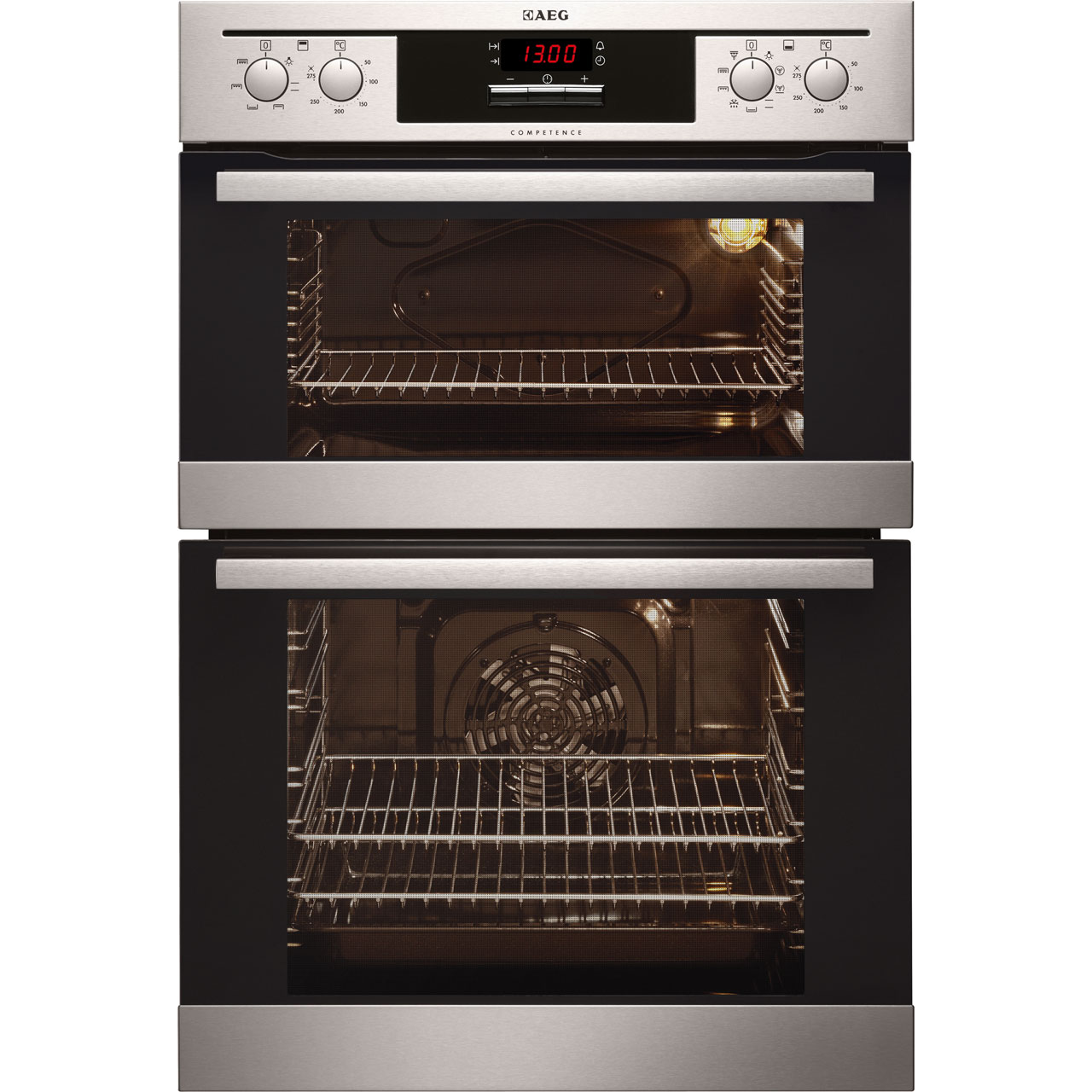 AEG Competence DE401301DM Integrated Double Oven in Stainless Steel