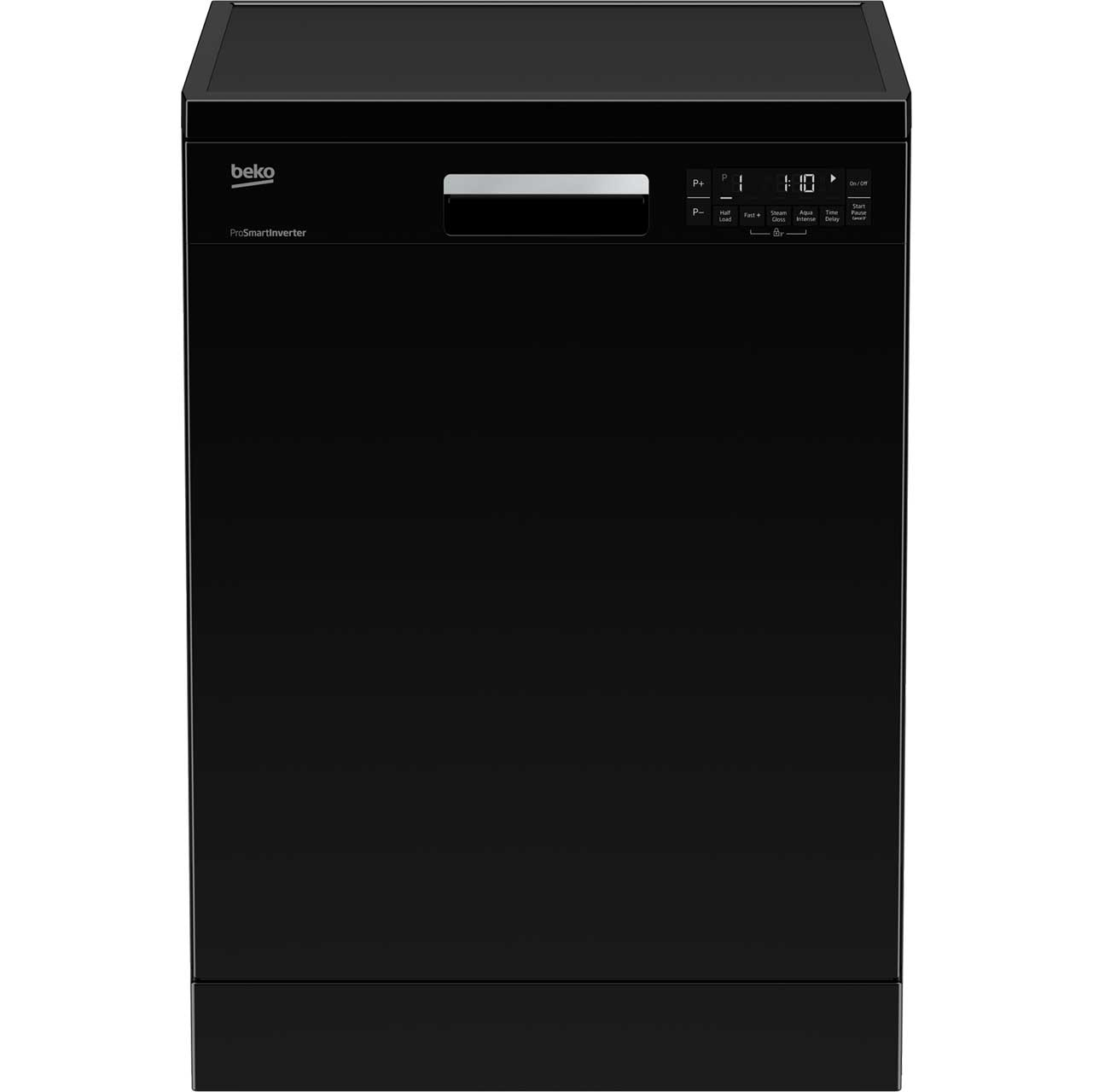 Beko DFN28R21B Free Standing Dishwasher in Black