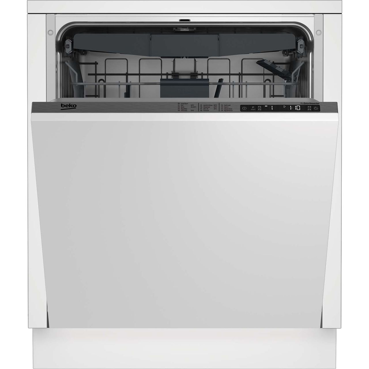 79b6c9cdb87 ... Beko DIN28R22 Fully Integrated Standard Dishwasher - Silver Control  Panel with Fixed Door Fixing Kit ...