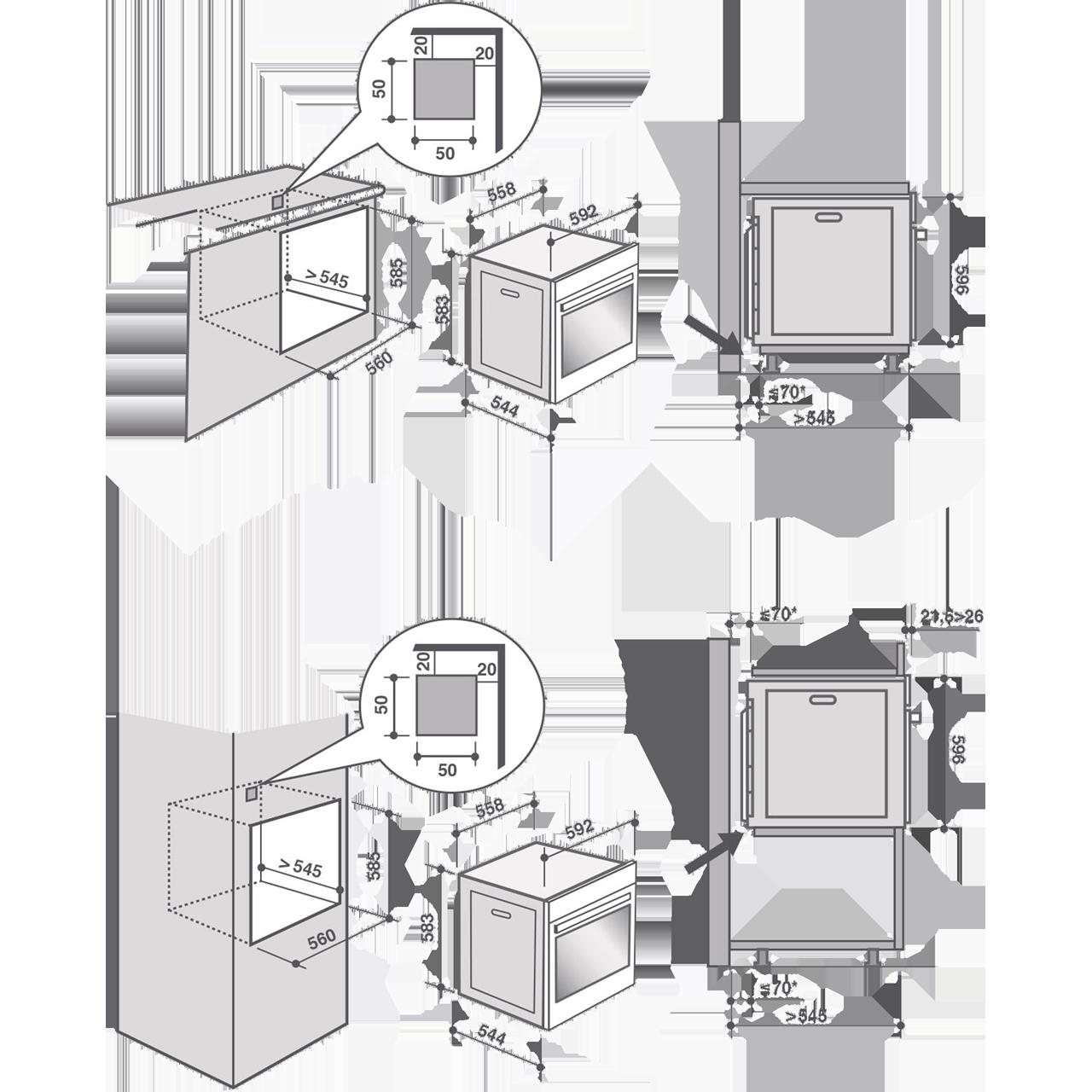 De Dietrich Dop7574x Built In 59cm A Electric Single Oven