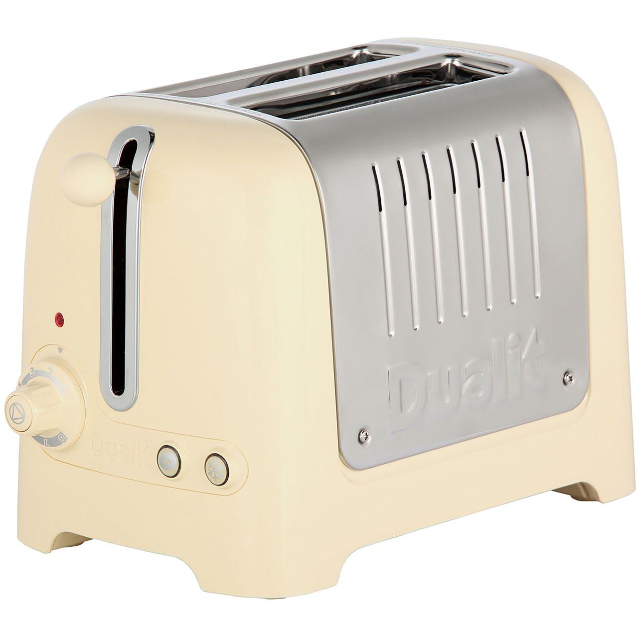Dualit Lite 2 Slice Toaster Gloss Cream