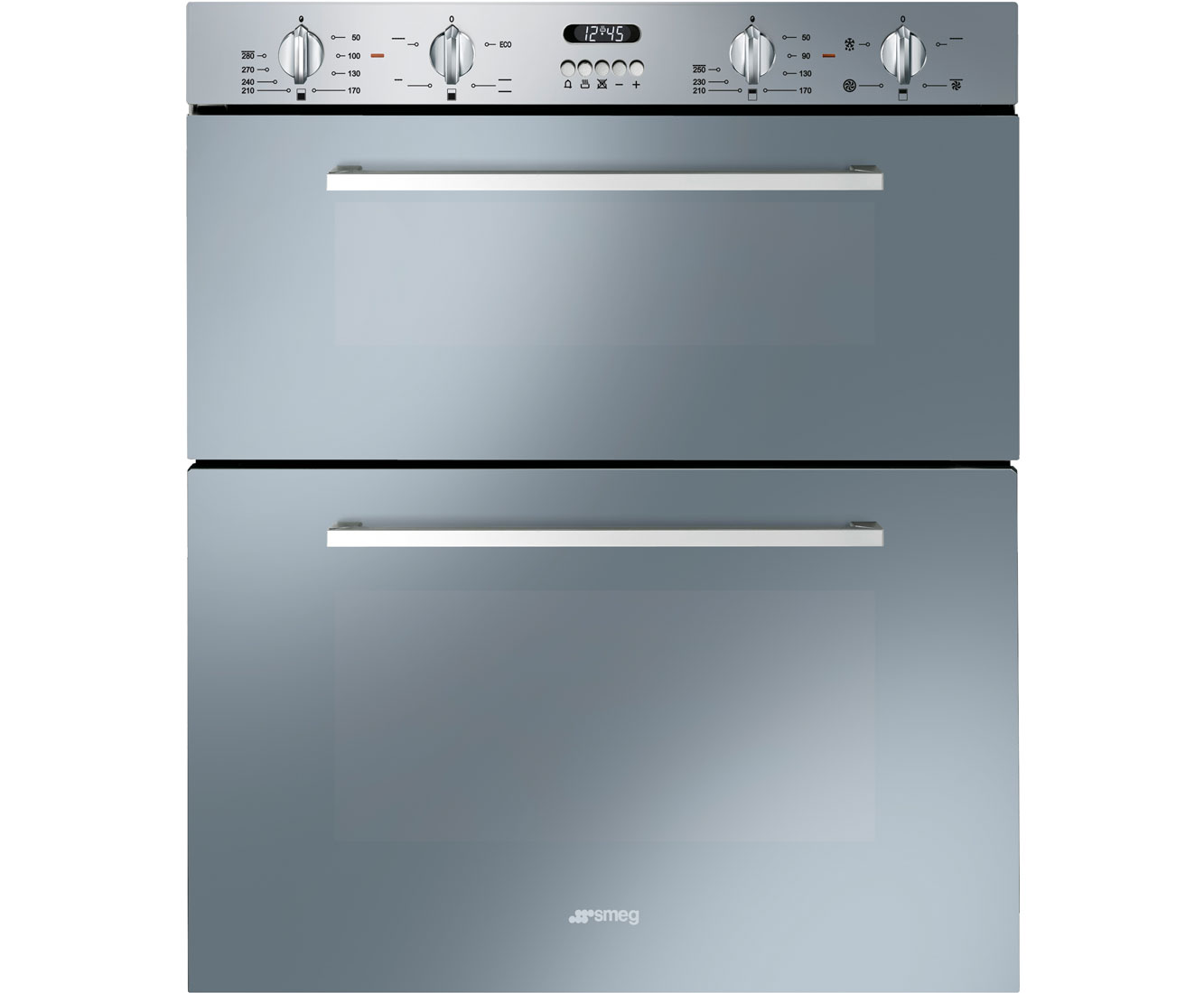 Smeg cucina dusf44x built under double oven stainless steel for Cucina smeg