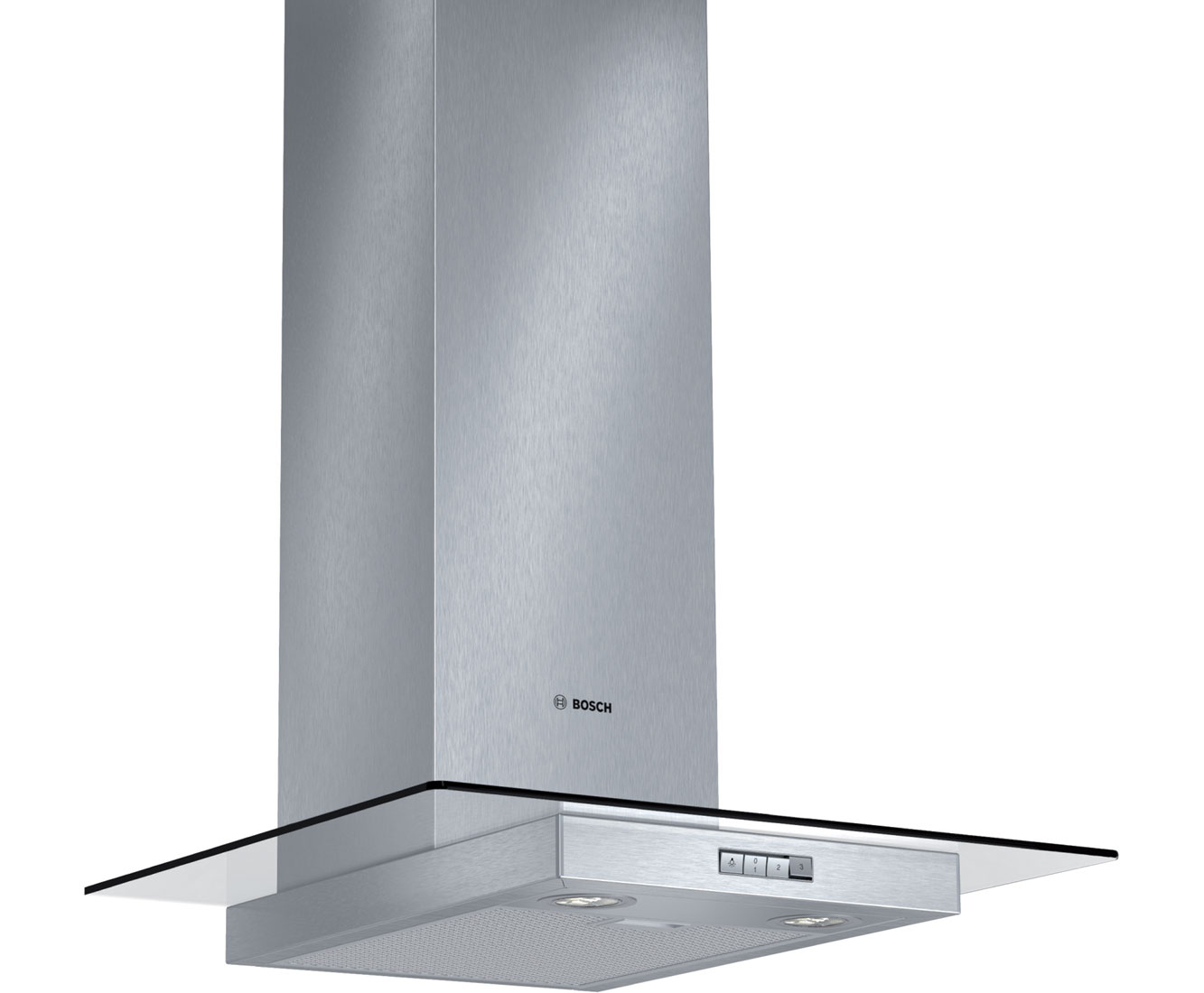 Image of Bosch Serie 4 DWA064W50B Integrated Cooker Hood in Brushed Steel