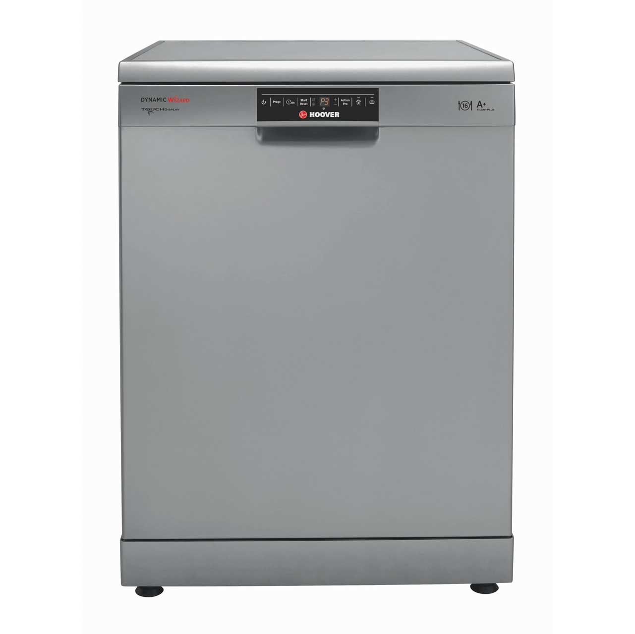 Hoover Dynamic Wizard DYM762TX Free Standing Dishwasher in Silver