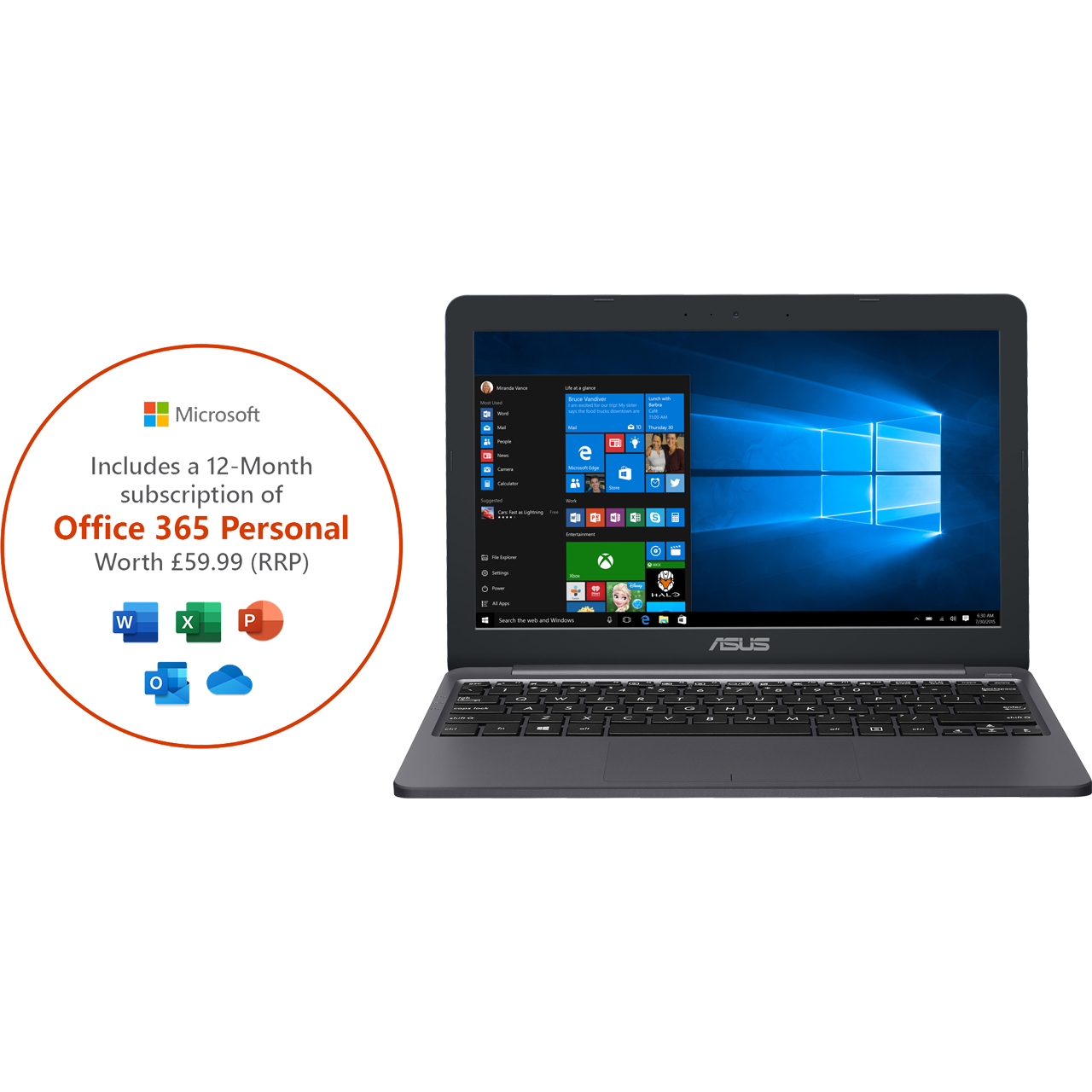 Details about Asus E203 11 6 Laptop 64GB Intel® Celeron® Includes Office  365 Personal 1-year