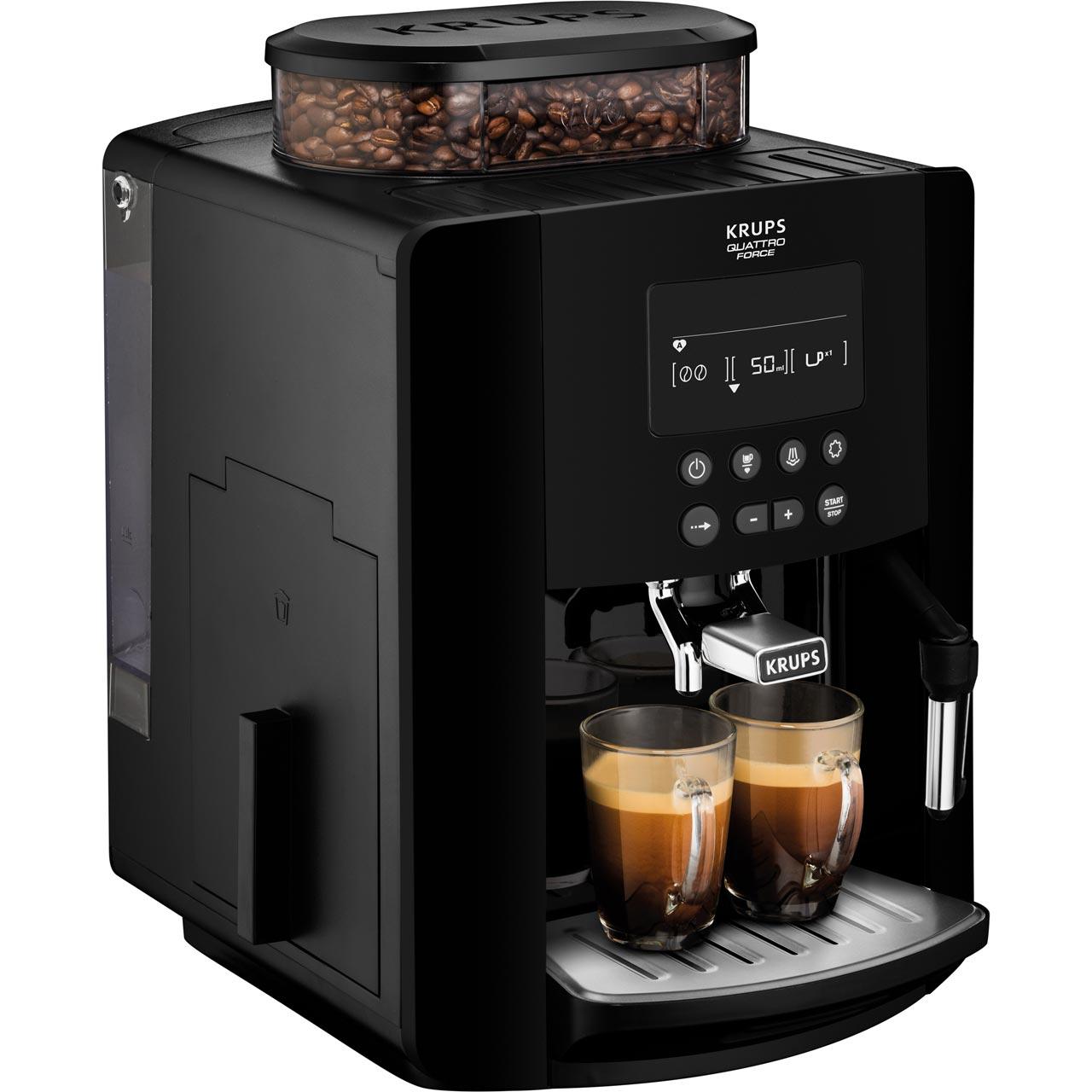 Krups Arabica Digital Ea817040 Bean To Cup Coffee Machine Black