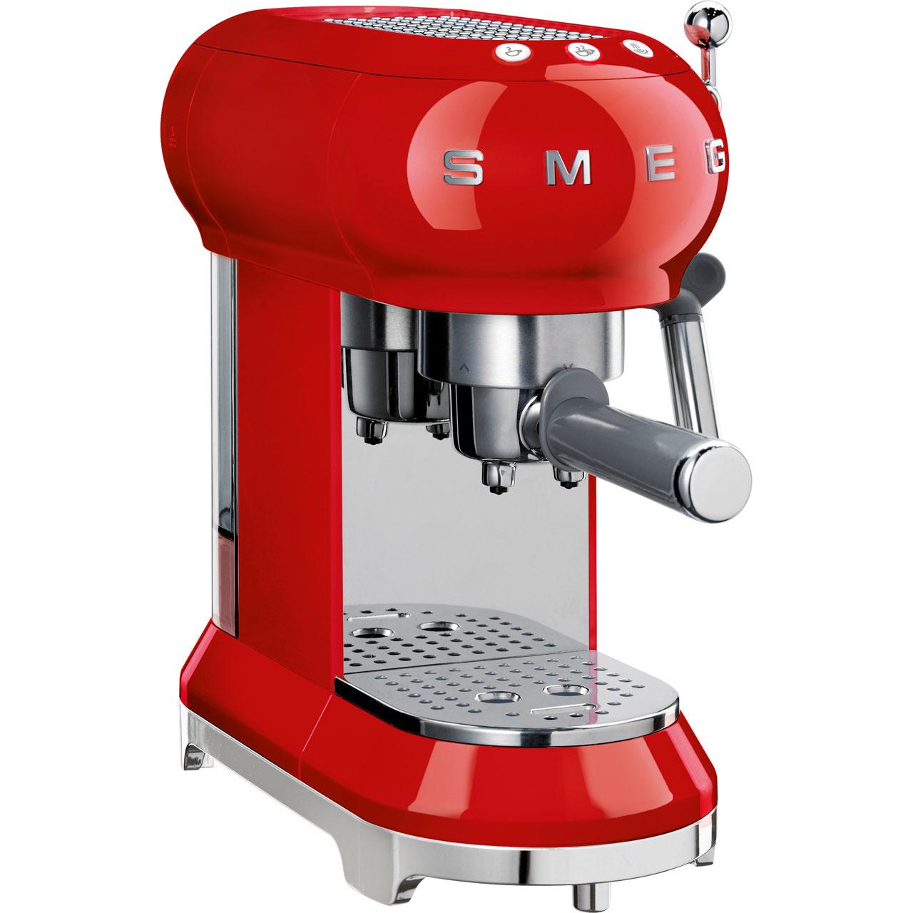 Ecf01rdukrd Smeg Filter Coffee Machine Red Aocom