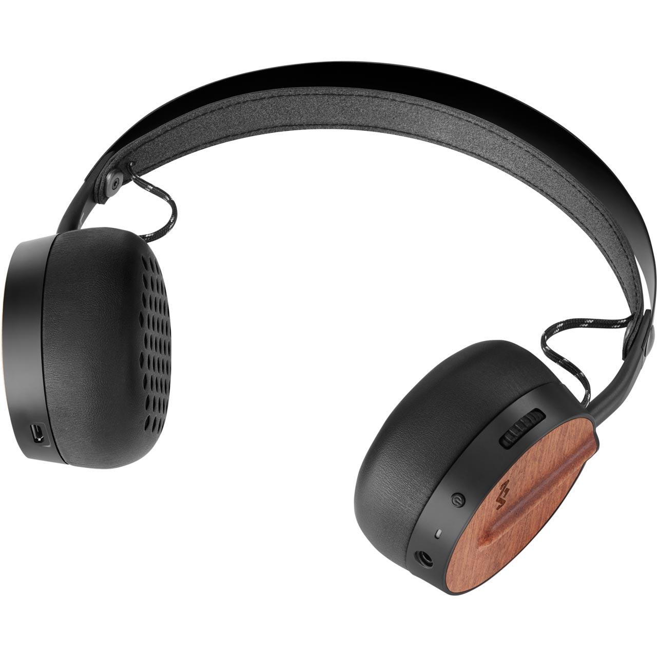House of Marley Buffalo Soldier On-Ear Wireless Headphones - Black