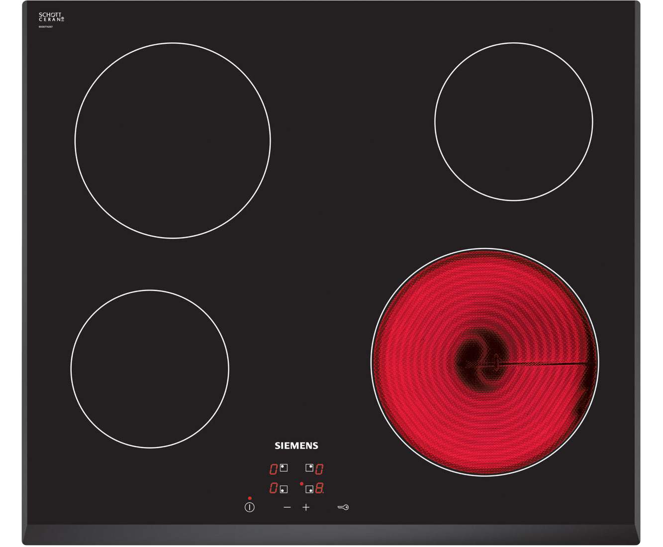 Siemens ET651HE17E Integrated Electric Hob in Black