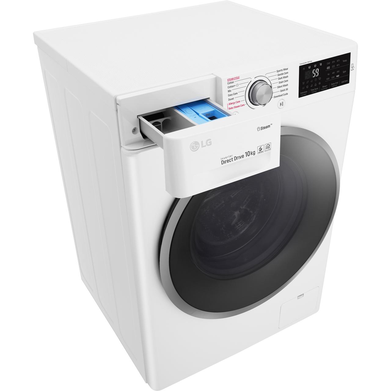 LG Steam™ F4J6JY1W Washing Machine - White