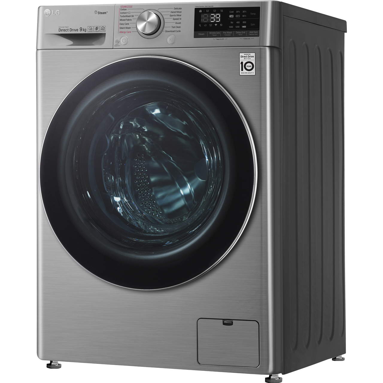 LG V7 F4V709STS Wifi Connected 9Kg Washing Machine with 1400 rpm - Graphite  - A+++ Rated